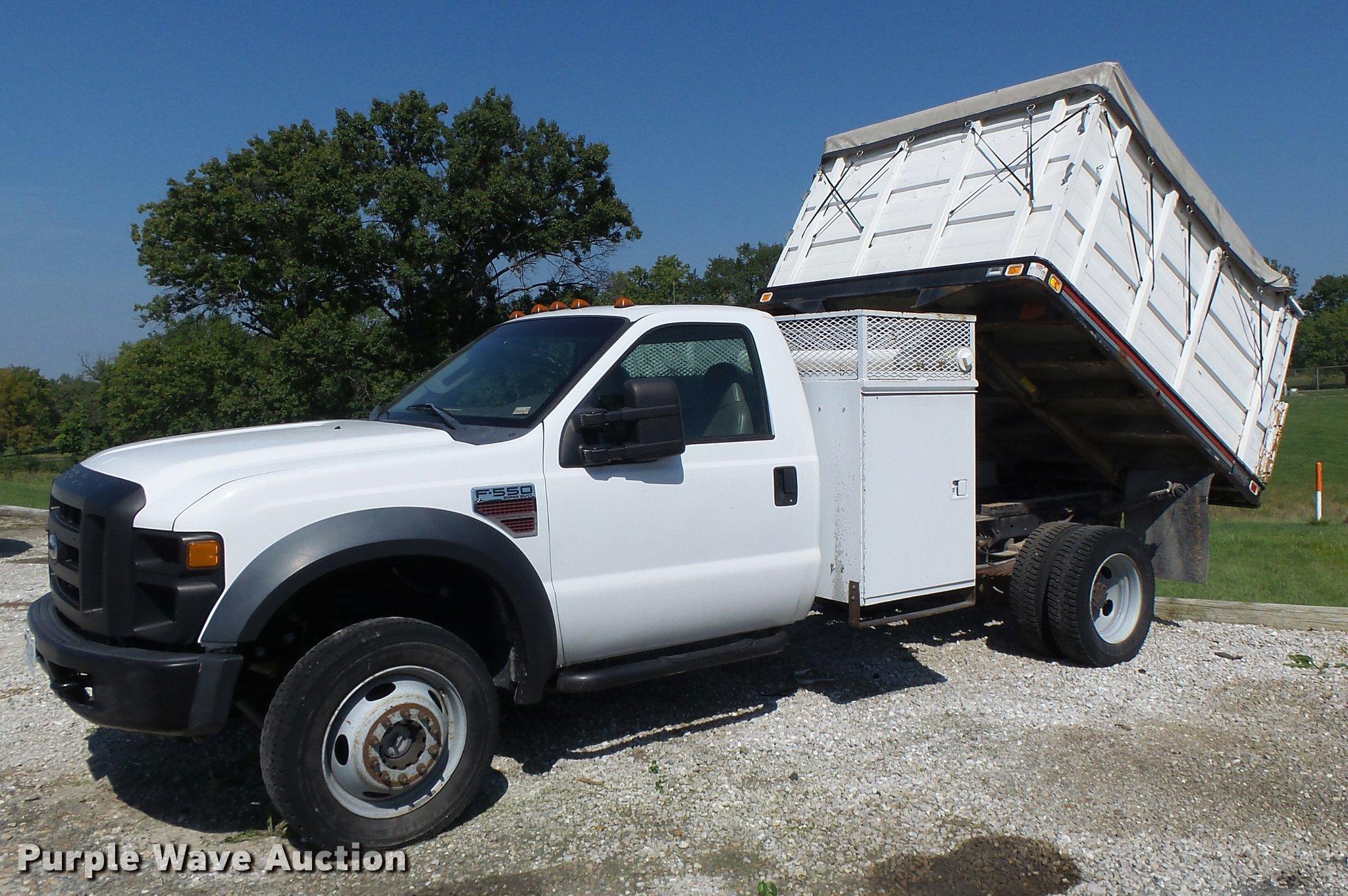 2008 ford f550 dump truck item k5690 sold! october 27 co