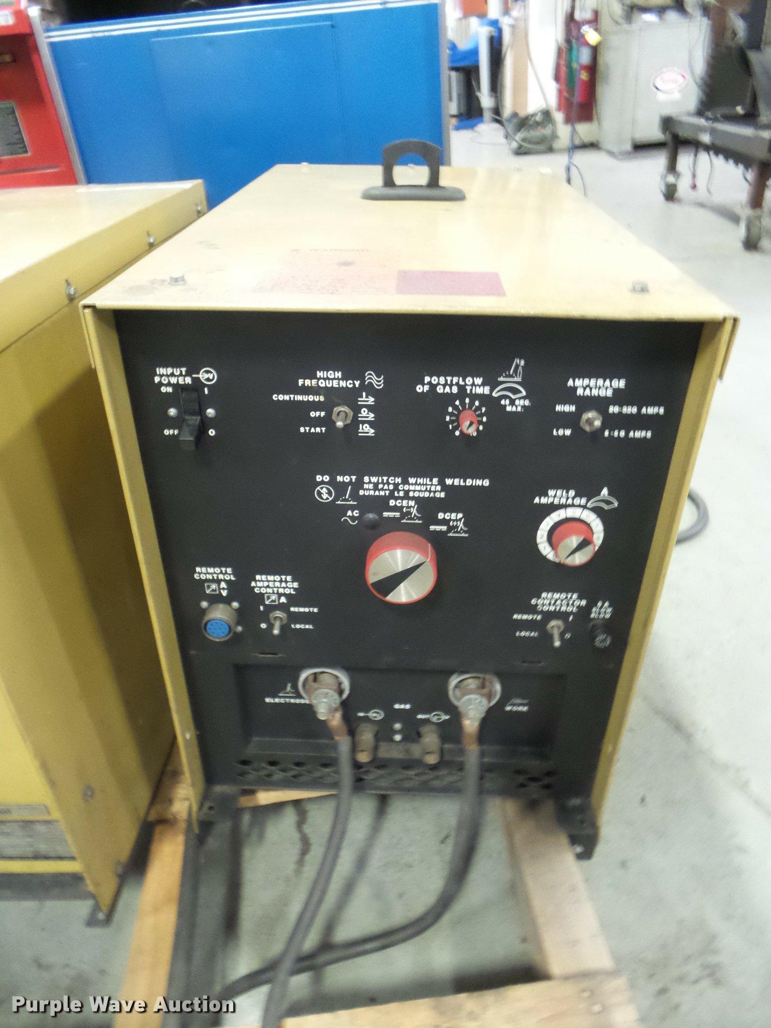 Hobart Tig Welder >> Hobart Tig Ac Dc Arc Welder Item Ap9698 Sold November 1