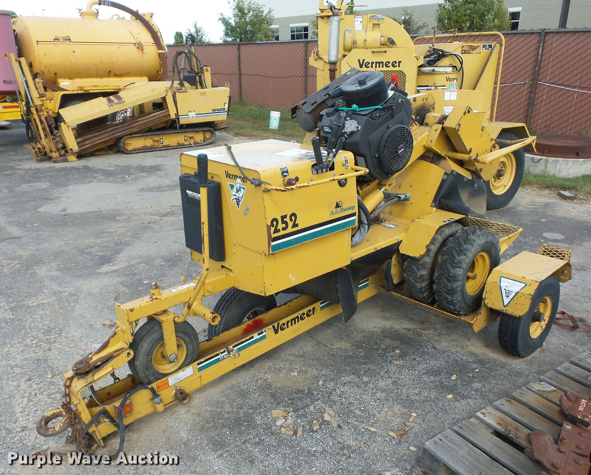 Vermeer Stump Grinder For Sale >> 1997 Vermeer 252 Stump Grinder Item L4284 Sold November