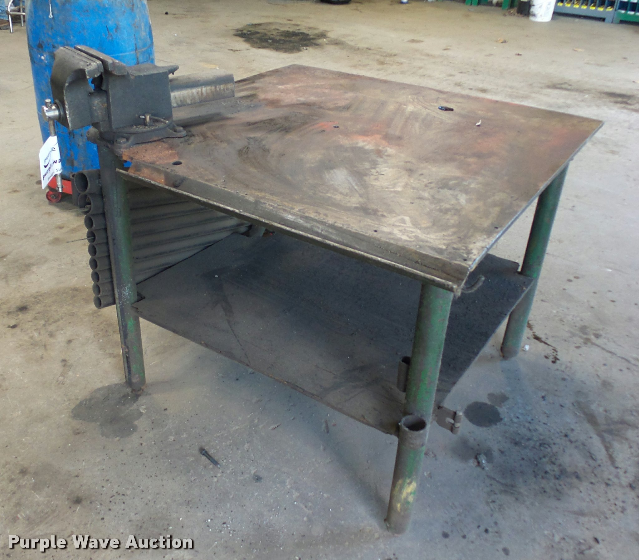 Welding Table For Sale >> Steel Welding Table Item L3546 Sold November 10 Special