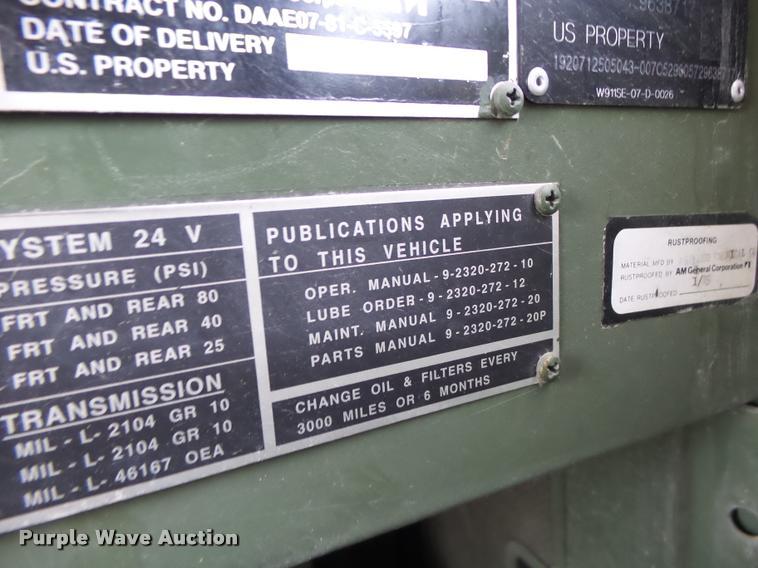 K5642 Image For Item 1985 Am General M929 Dump Truck