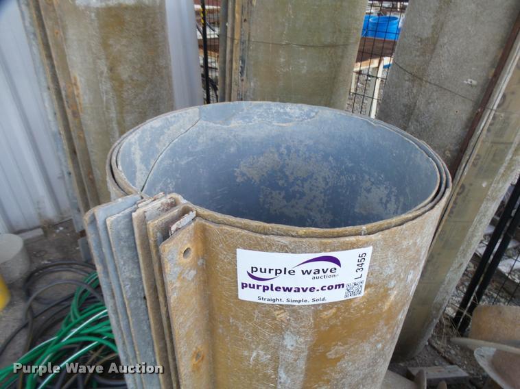 MFG fiberglass round column forms   Item L3455   SOLD! Novem