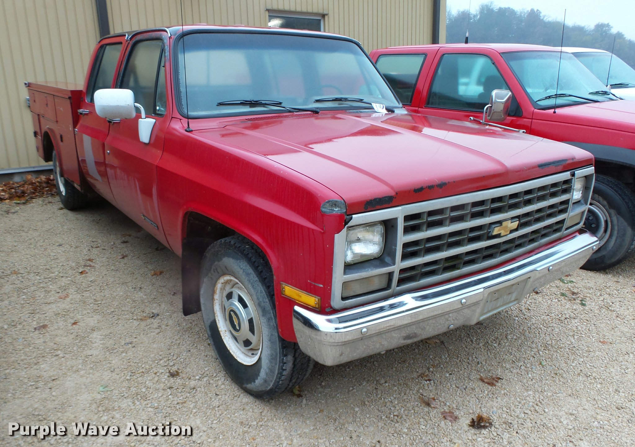 1991 Chevrolet 3500 Crew Cab Utility Truck Item K2497 So Full Size In New Window