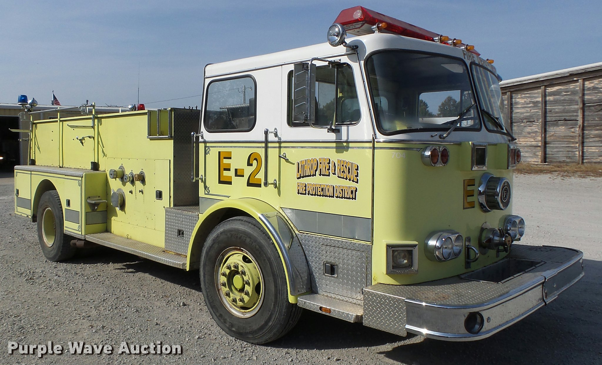 Seagrave Fire Apparatus >> 1978 Seagrave Fire Truck Item K5632 Sold November 30 Ve
