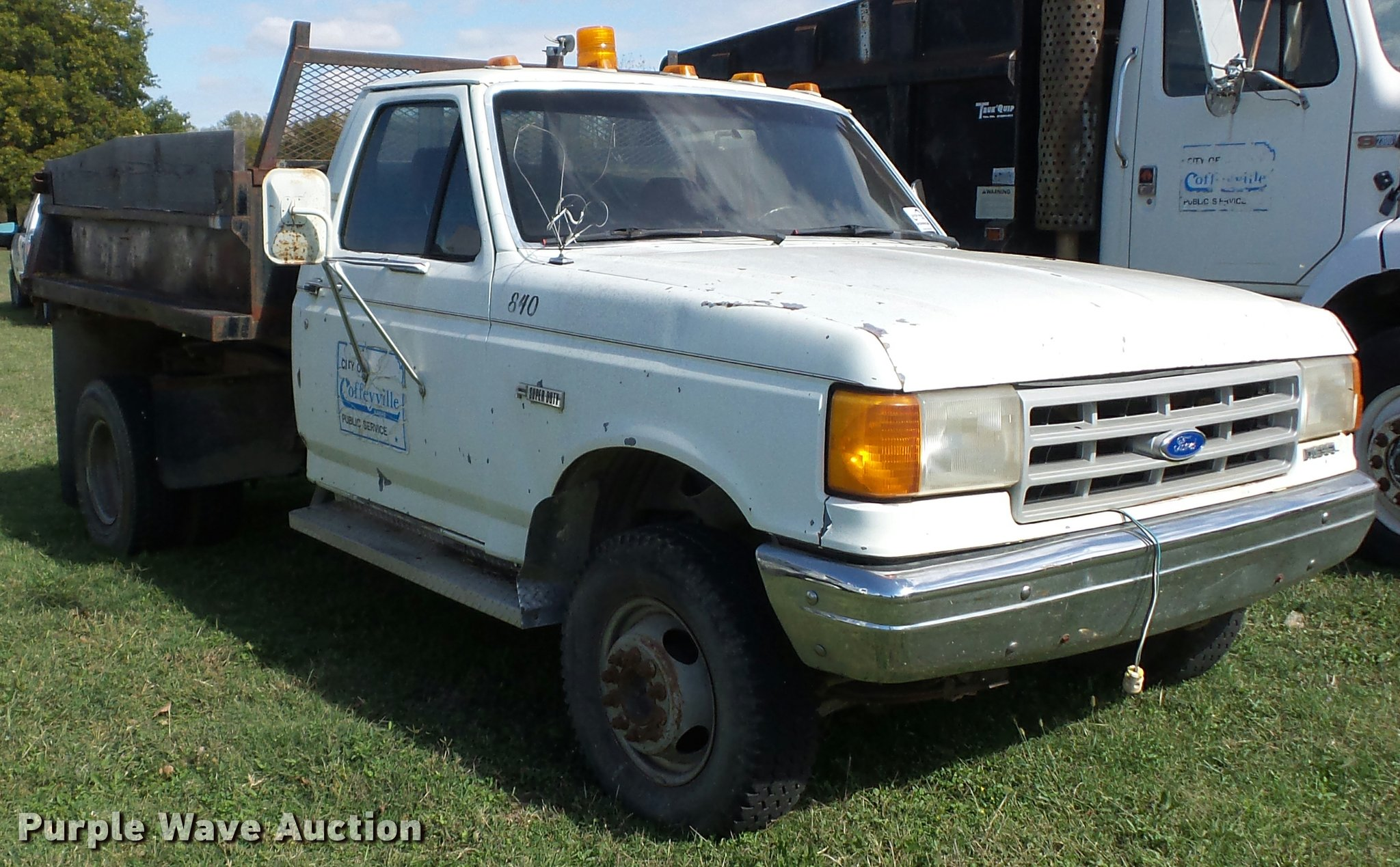 1991 Ford F450 Super Duty dump truck | Item L4418 | SOLD! No