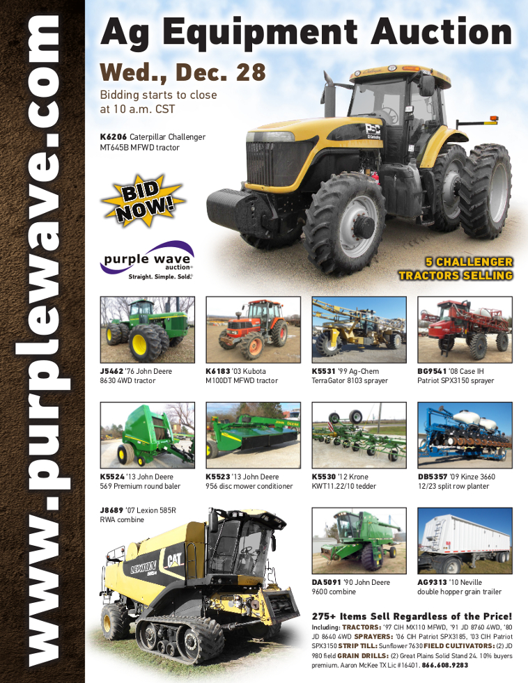 SOLD! December 28 Ag Equipment Auction | PurpleWave, Inc