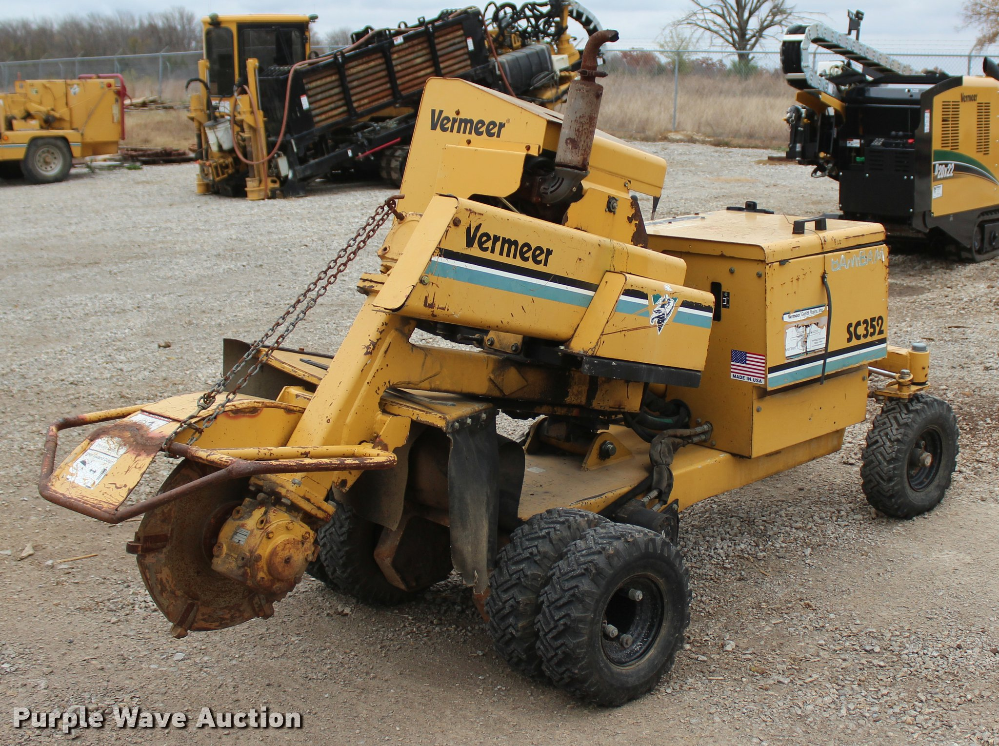 Vermeer Stump Grinder For Sale >> 2003 Vermeer Sc352 Stump Grinder Item L4918 Sold Decemb