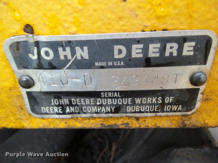 john deere backhoe serial number location