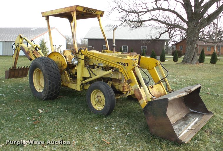 Ford 3550 Tractor : Ford backhoe item db sold december