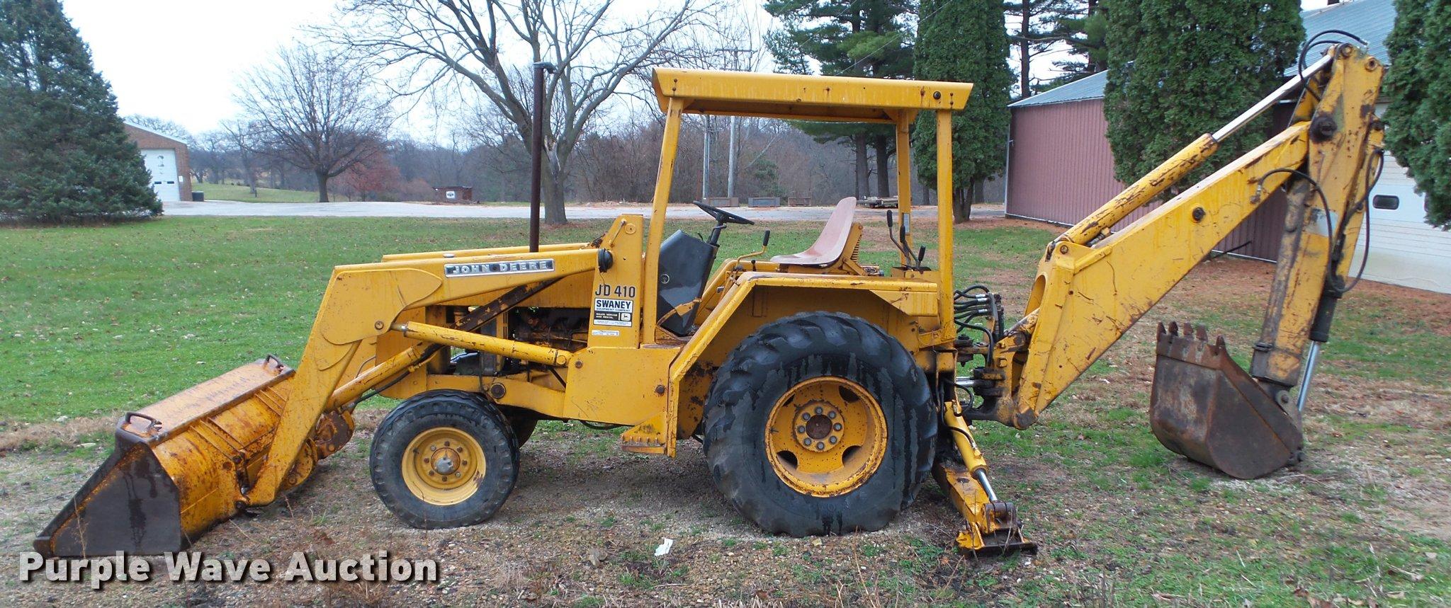 1976 john deere 410 backhoe item bz9956 sold december 2 rh purplewave com John  Deere 410 Backhoe Valve John Deere 410B Service Manual