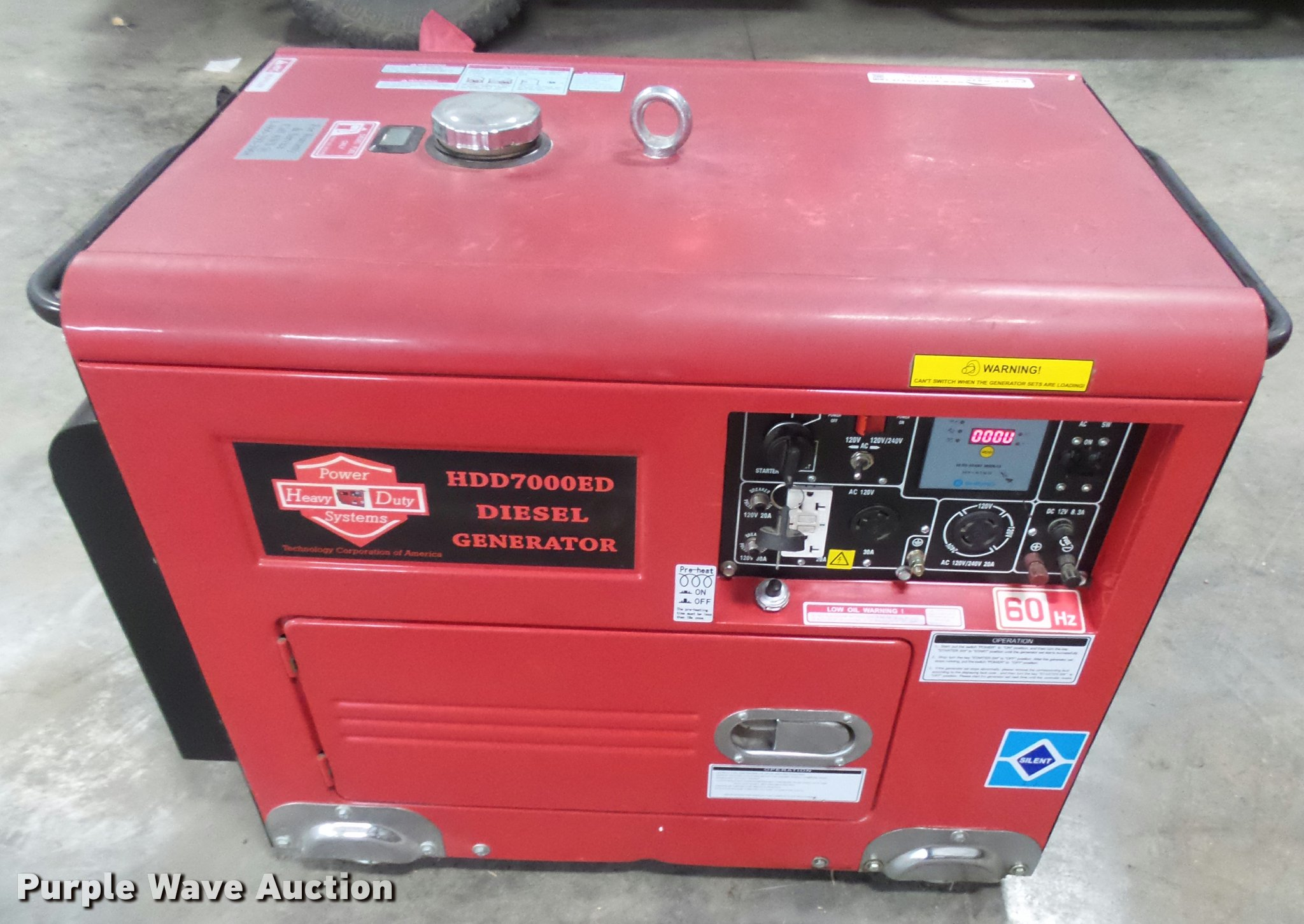 Power Systems HDD7000ED generator Item DI9556