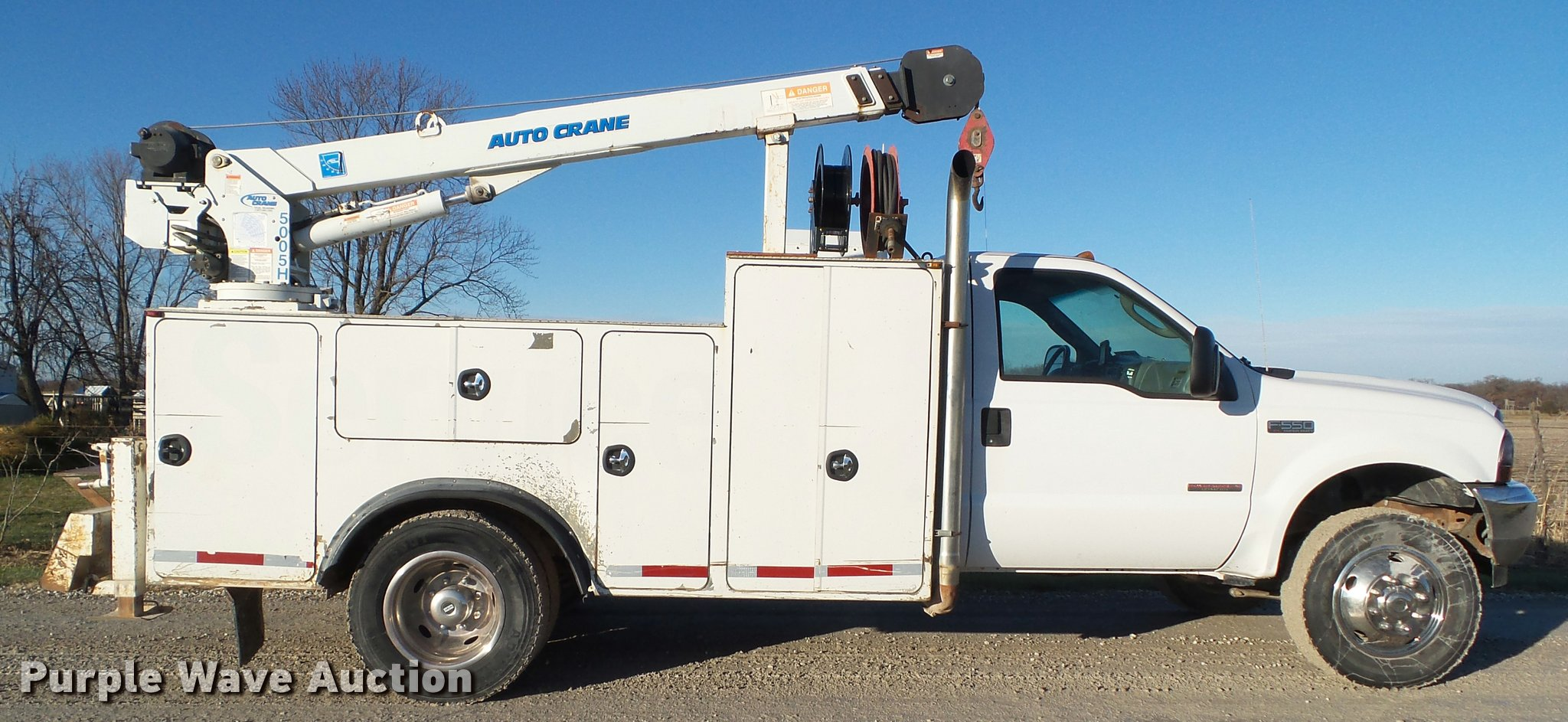 2004 Ford F550 Super Duty Service Truck With Crane Item L5 Full Size In New Window