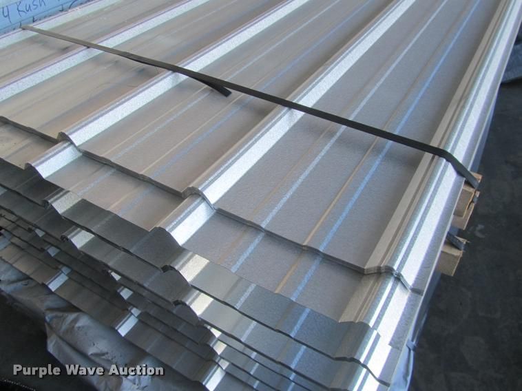 60 Sheets Of Metal Siding Roofing Item F1963 2 2 2017