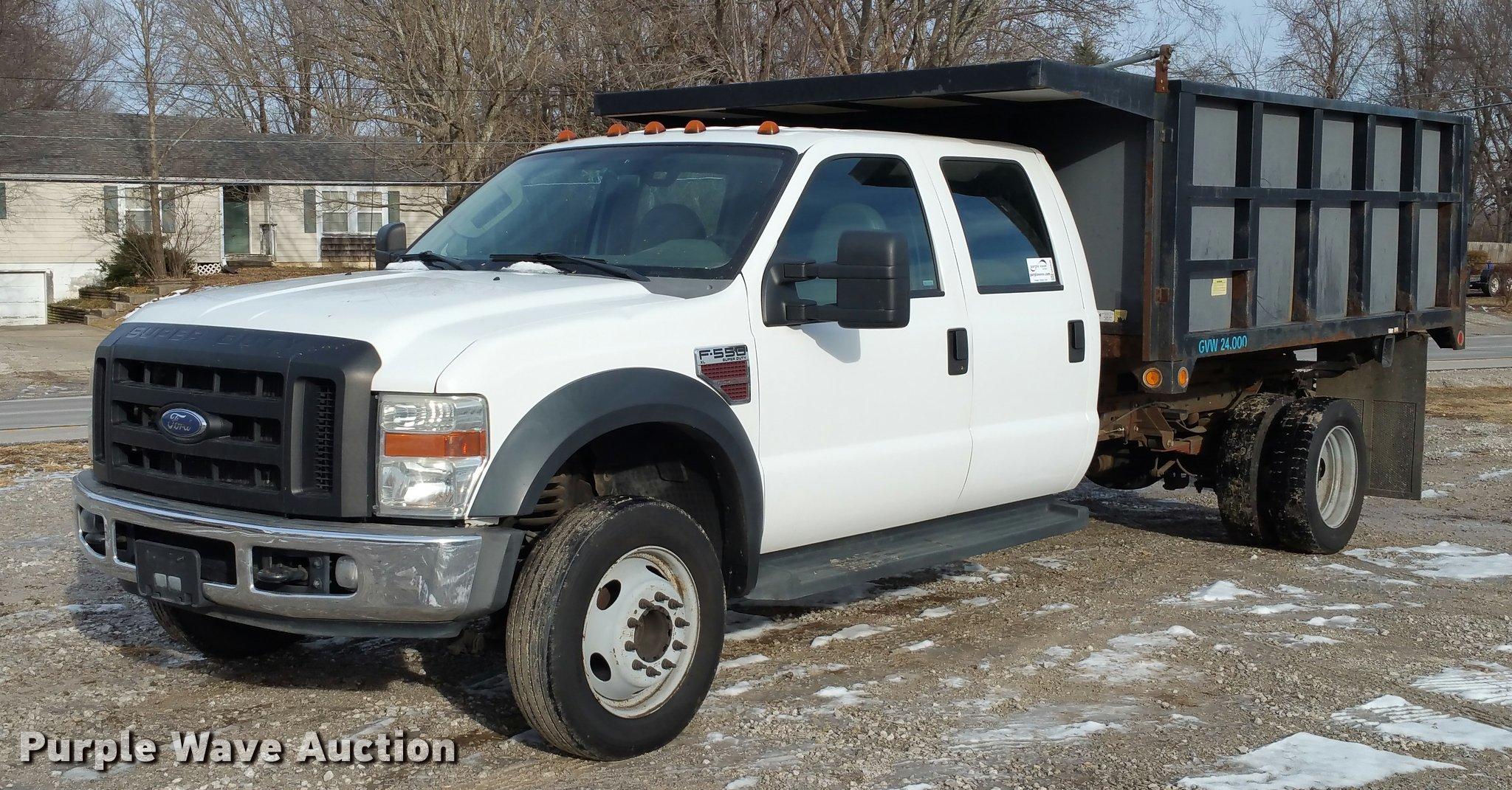2008 ford f550 crew cab dump truck item da5830 sold! febda5830 image for item da5830 2008 ford f550 crew cab dump truck