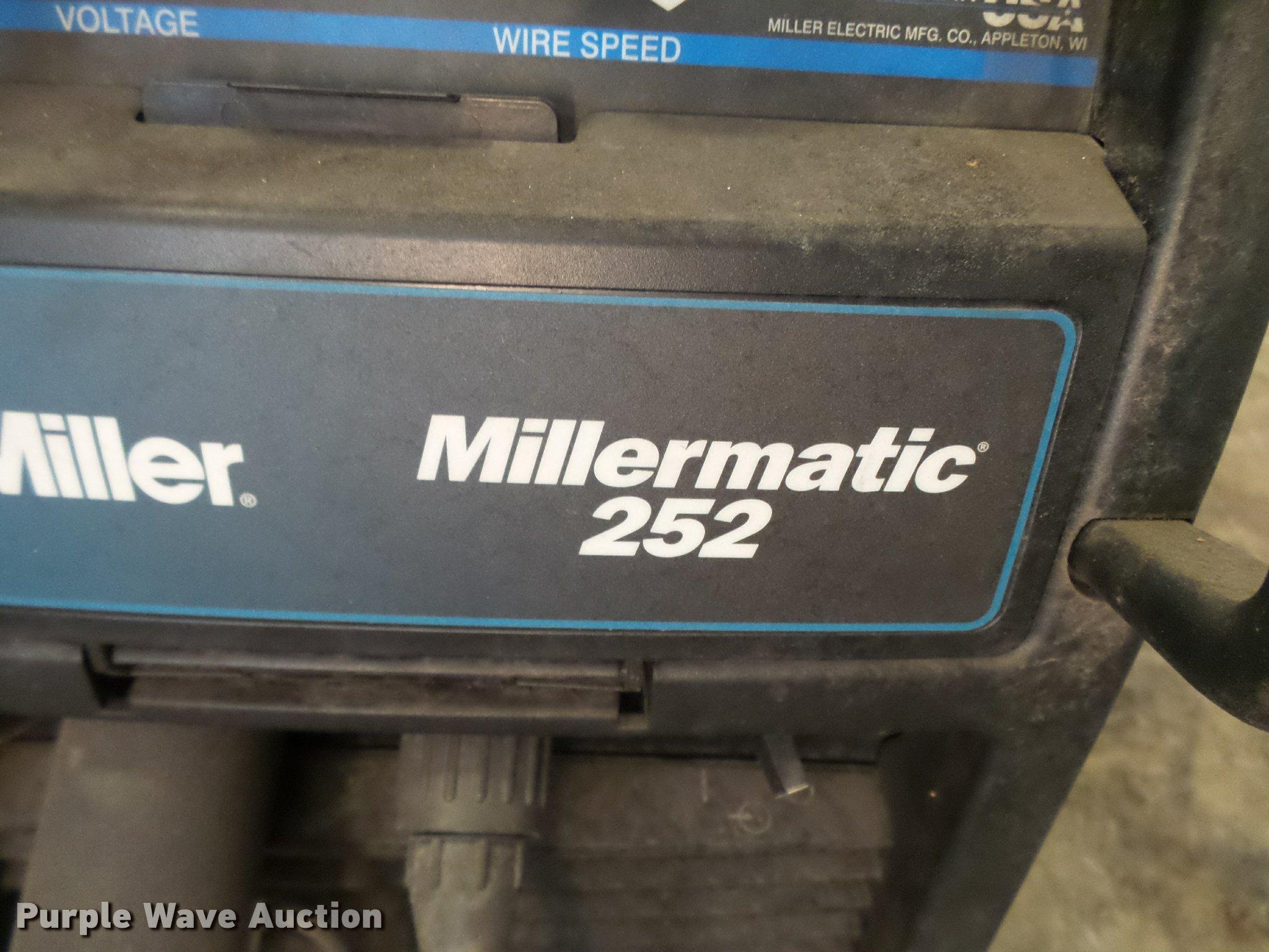 Millermatic 252 mig welder | Item L7197 | SOLD! February 15 ...