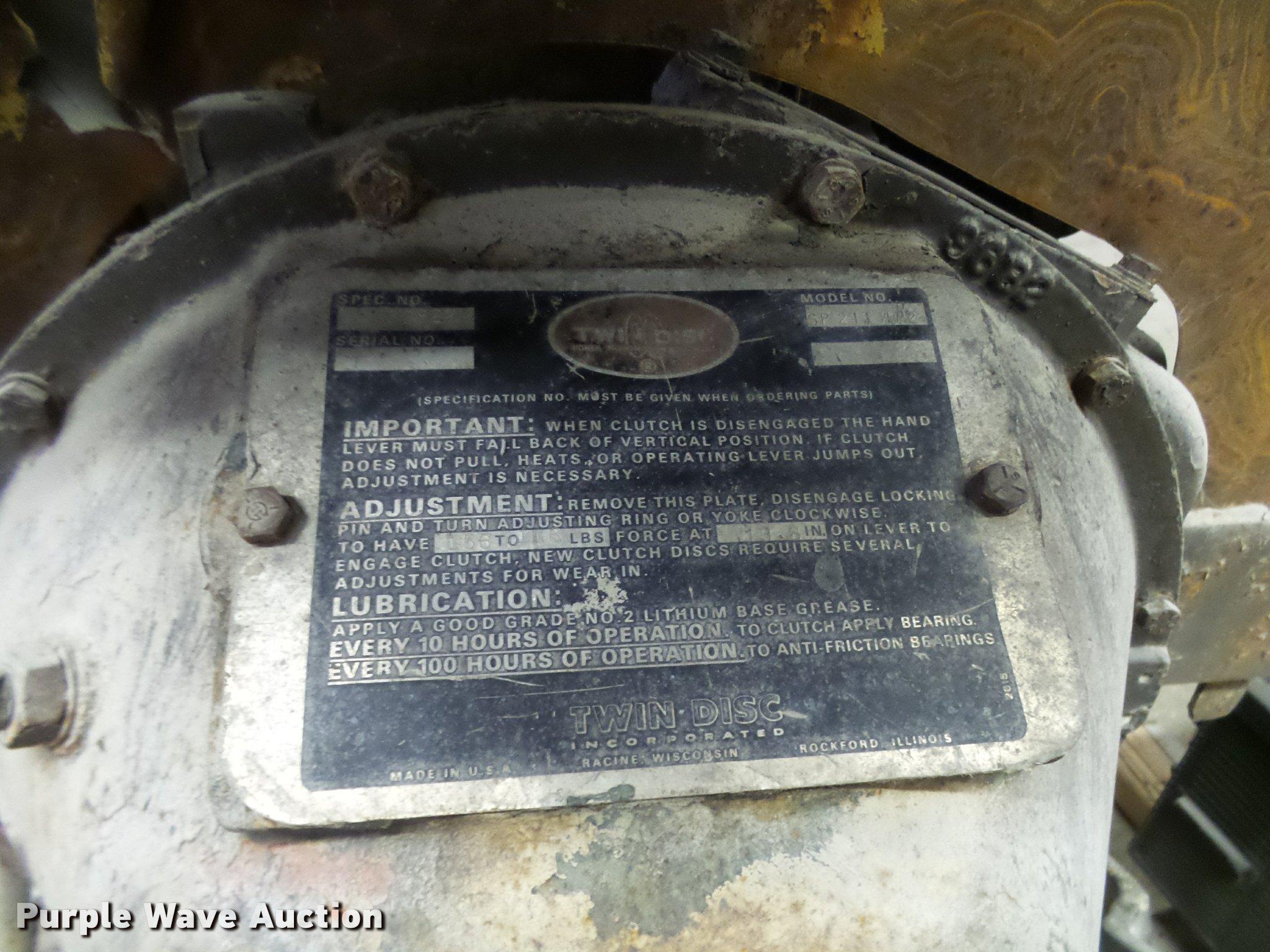 Cummins C180 Turbo Diesel Engine Item L7234 2 15 2017