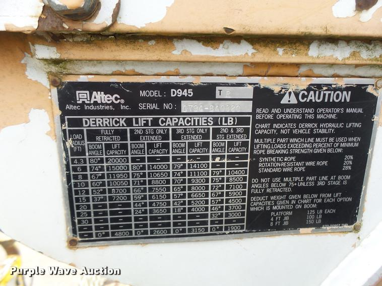 1995 international 4800 digger derrick truck item da3278 rh purplewave com Ezgo Wiring Diagram Pioneer Wiring-Diagram