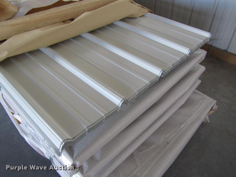 30 Sheets Of Metal Siding Roofing Item F1998 Sold