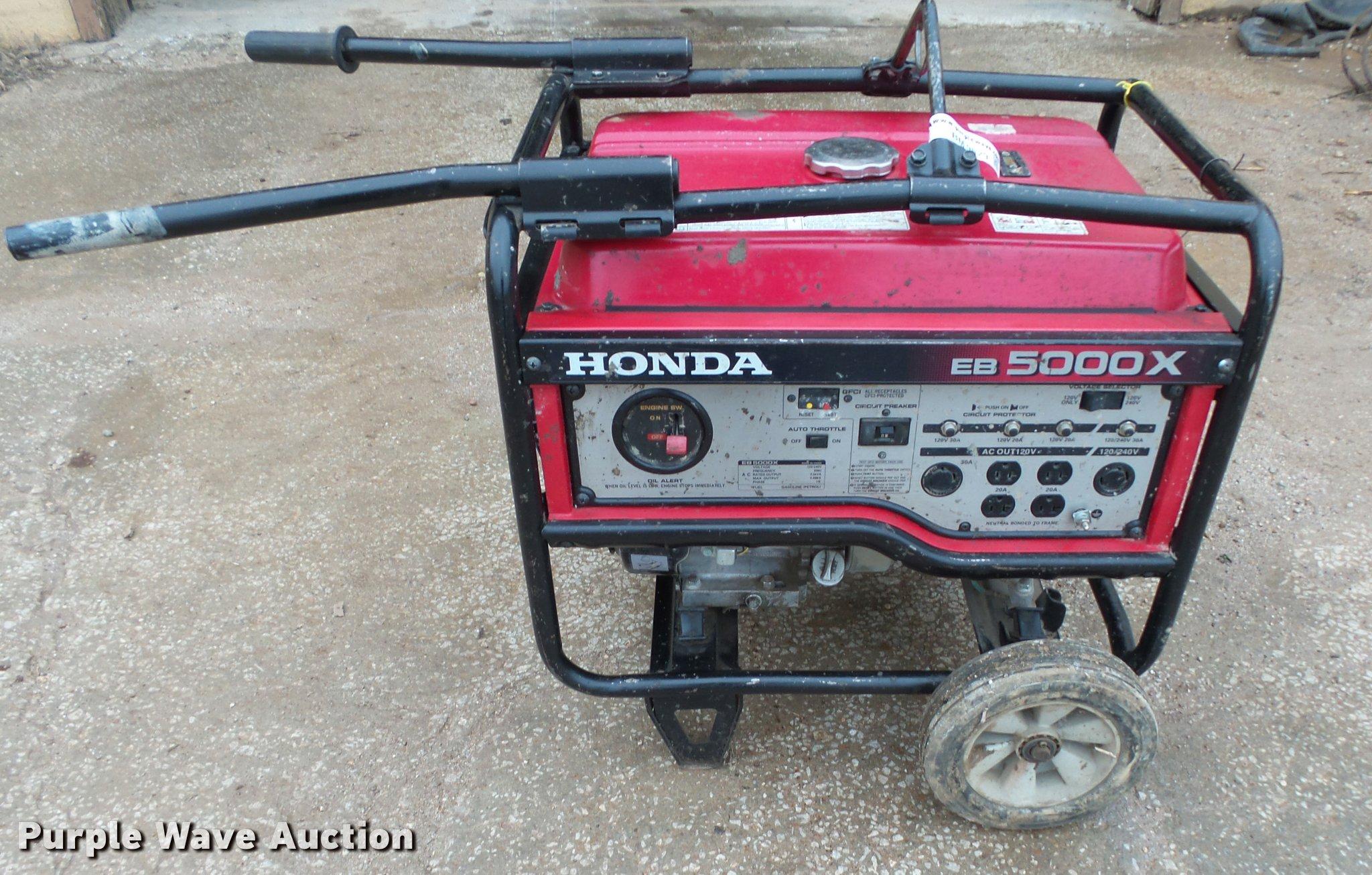 Honda Eb5000x Generator Parts List Diagram Of Eg5000x Ar Jpn Vin Ea7 Bm9529 Image For Item