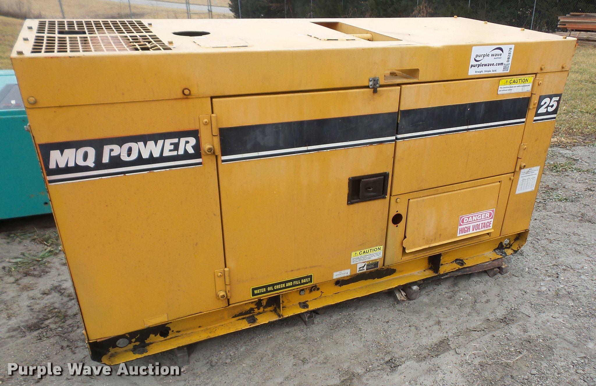 MQ Power DCA 25SSI0 generator Item DB2878