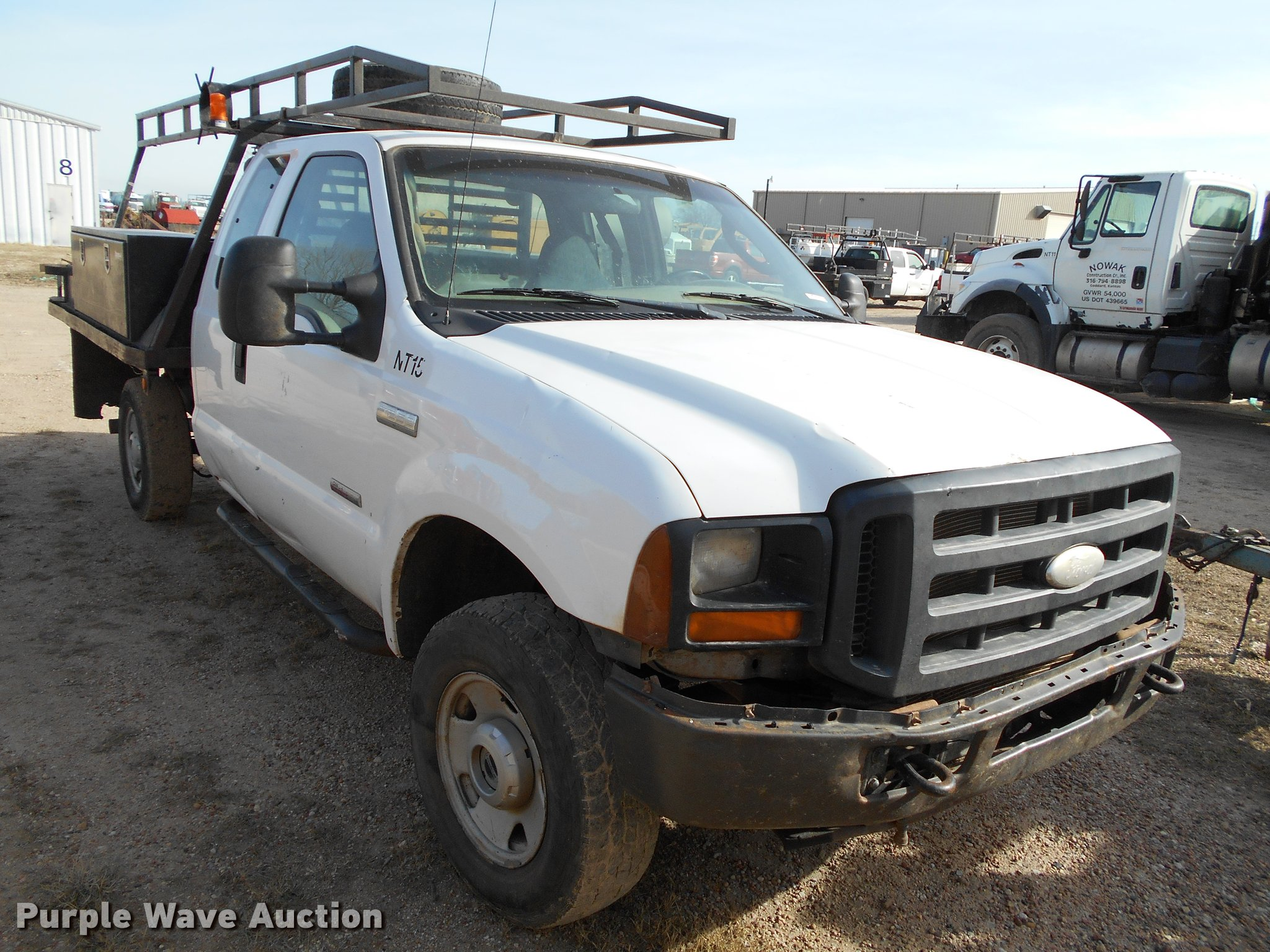 2006 Ford F250 Super Duty Supercab Flatbed Pickup Truck It F 250 Bu9418 Image For Item