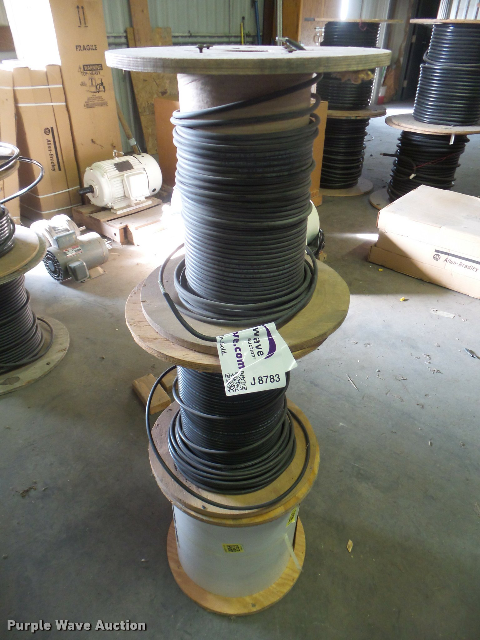 3) spools of no. 6 water line tracer wire | Item J8783 | SO...
