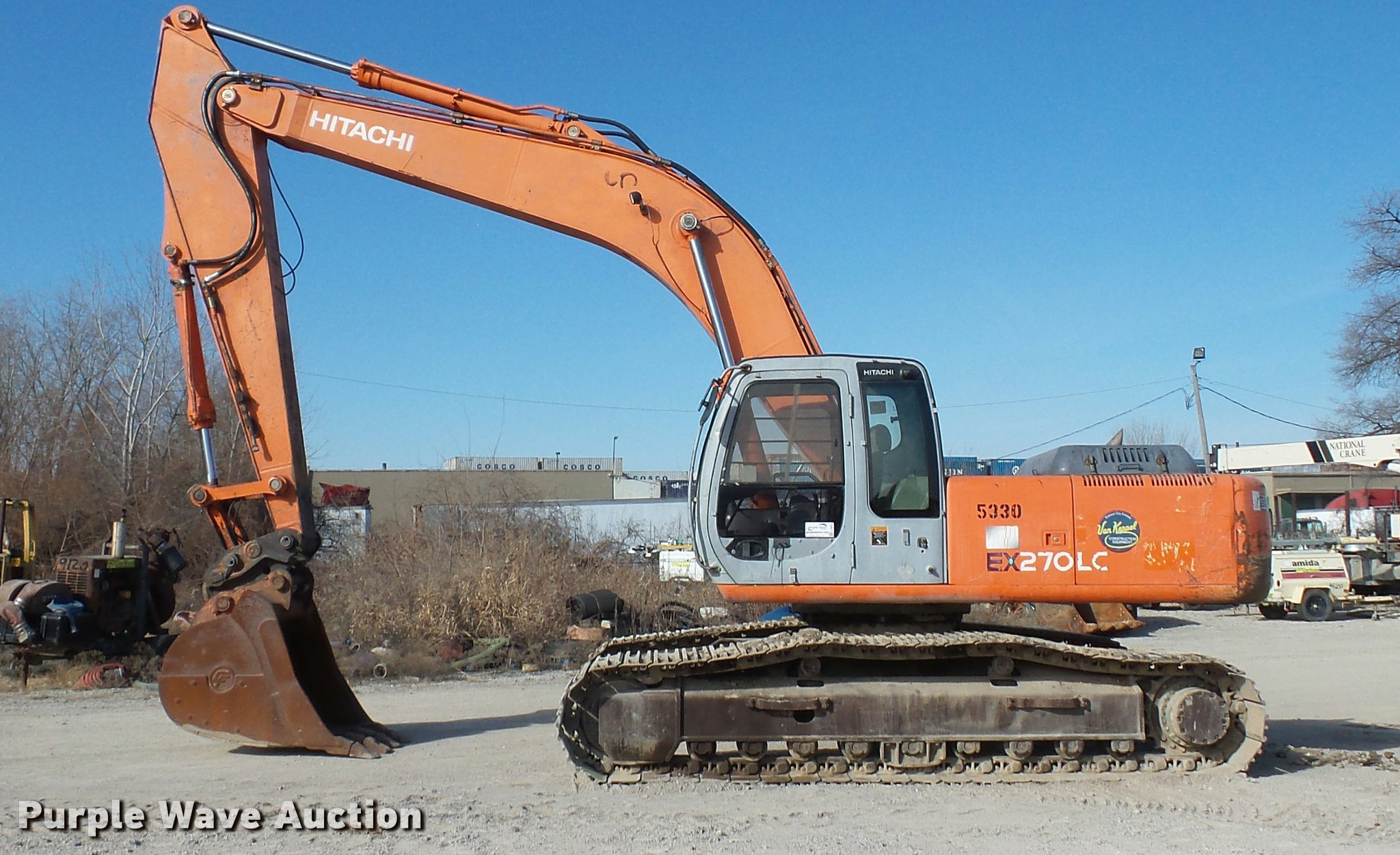 2001 Hitachi EX270 LC excavator | Item L4575 | SOLD! March 2