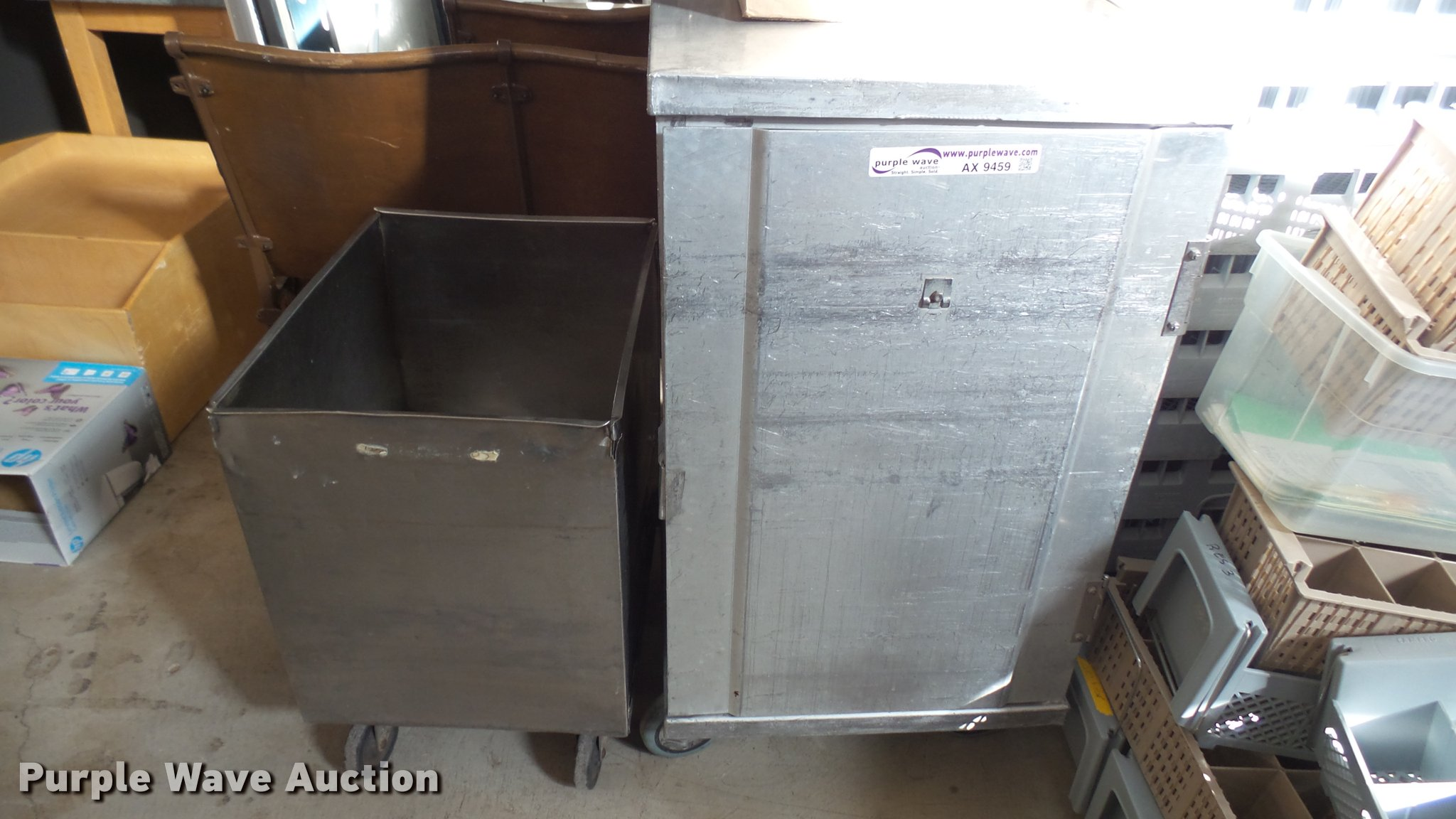 2) metal kitchen carts | Item AX9459 | SOLD! March 7 Govern...