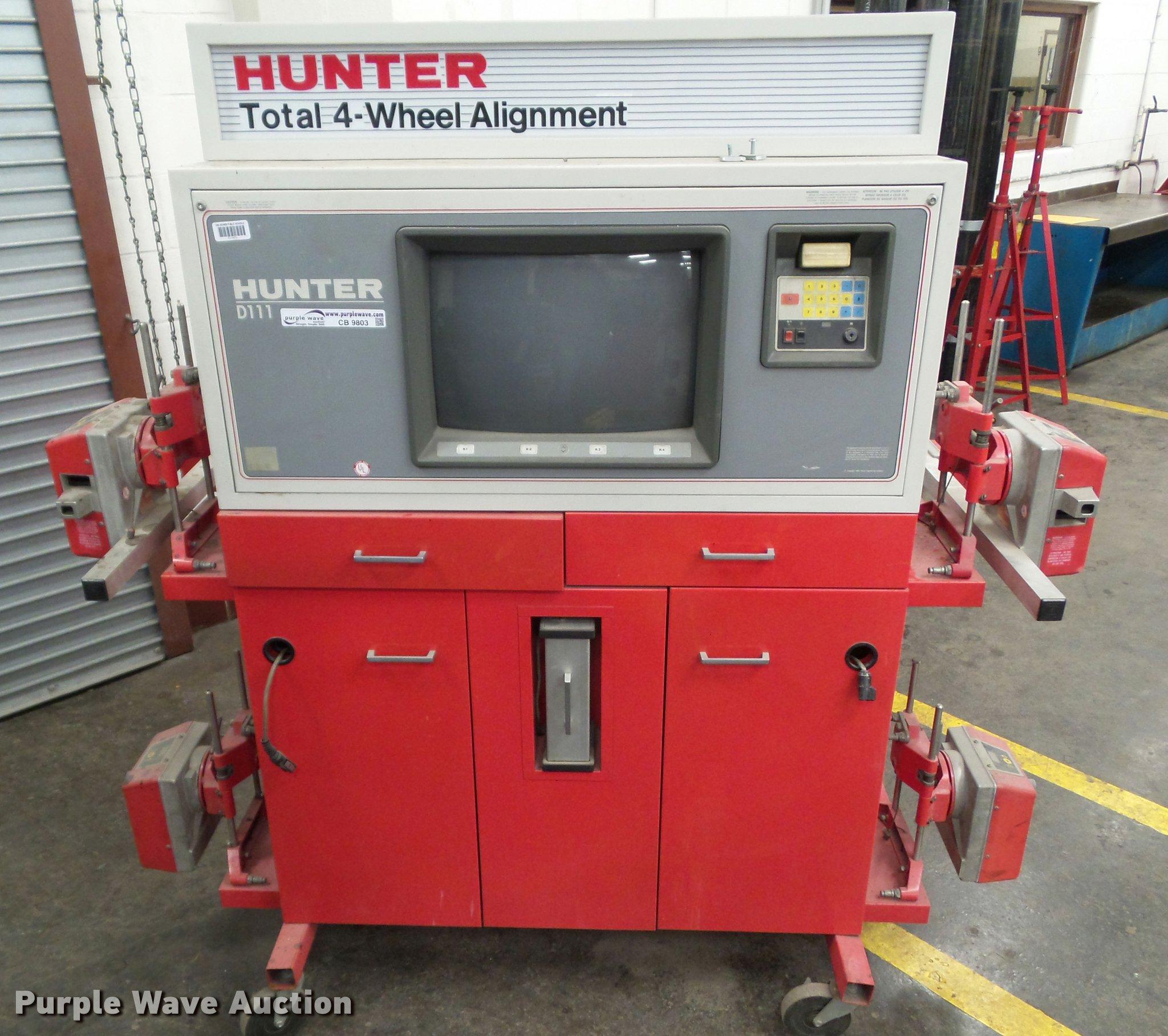 Wheel Alignment Tools >> Hunter D111 four-wheel alignment machine | Item CB9803 ...