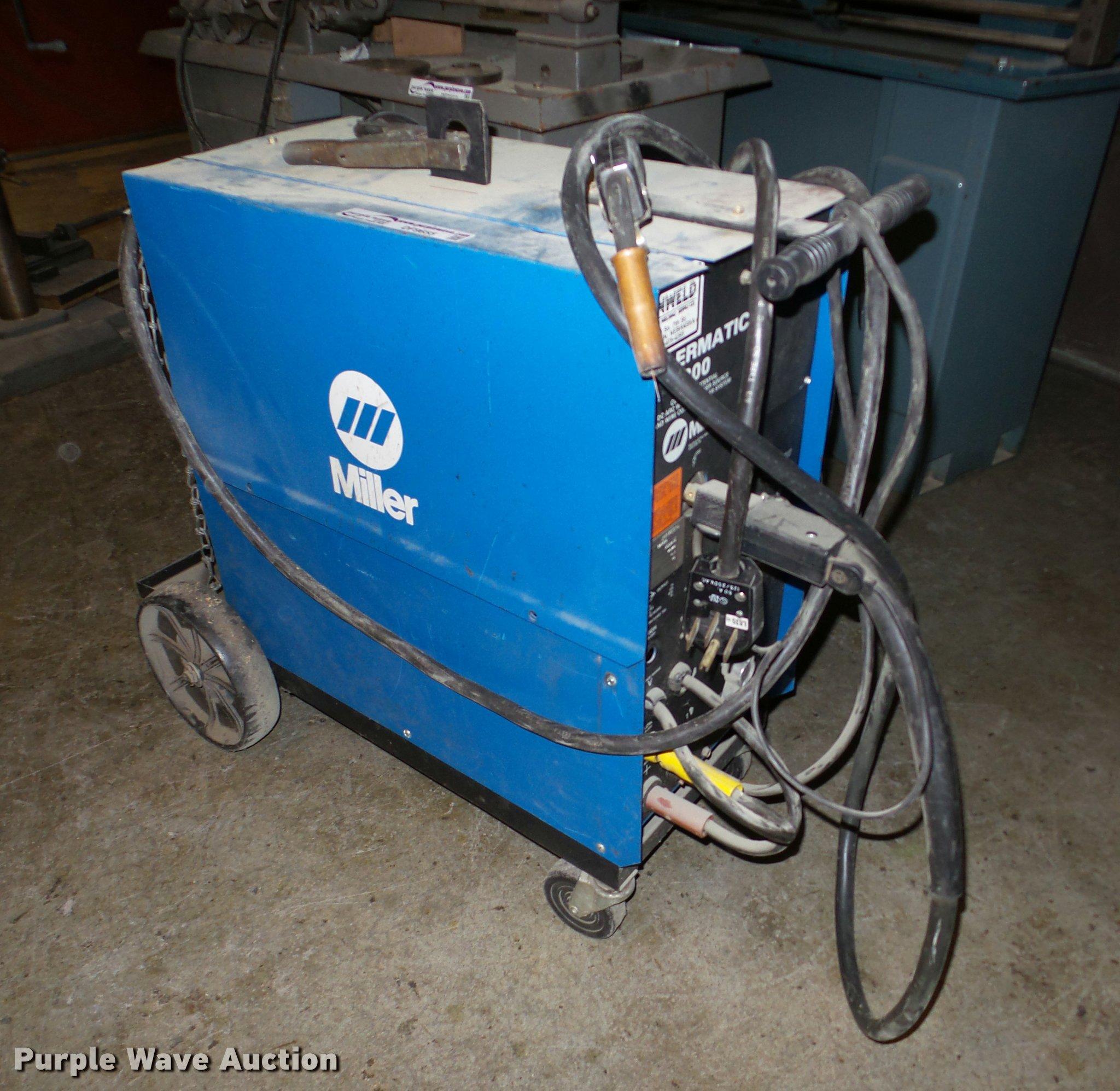 Miller Mig Welder For Sale >> Miller Millermatic 200 Mig Welder Item Df9655 Sold Marc