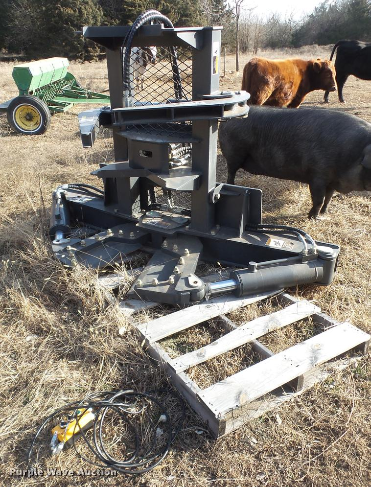 Skid steer tree shear | Item DB0737 | SOLD! March 8 Ag Equip