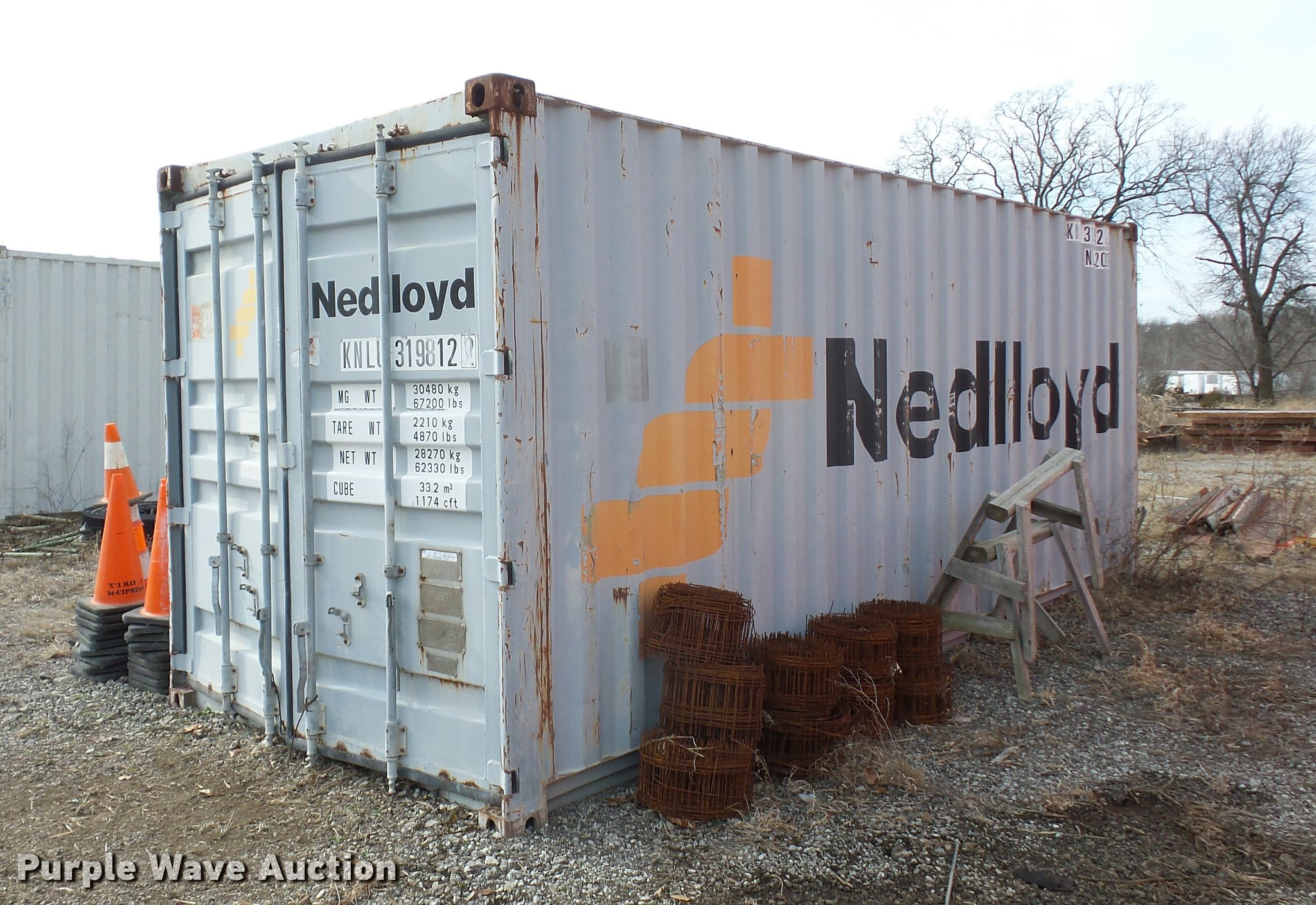 Conex storage container Item AX9347 SOLD March 14 Jim K