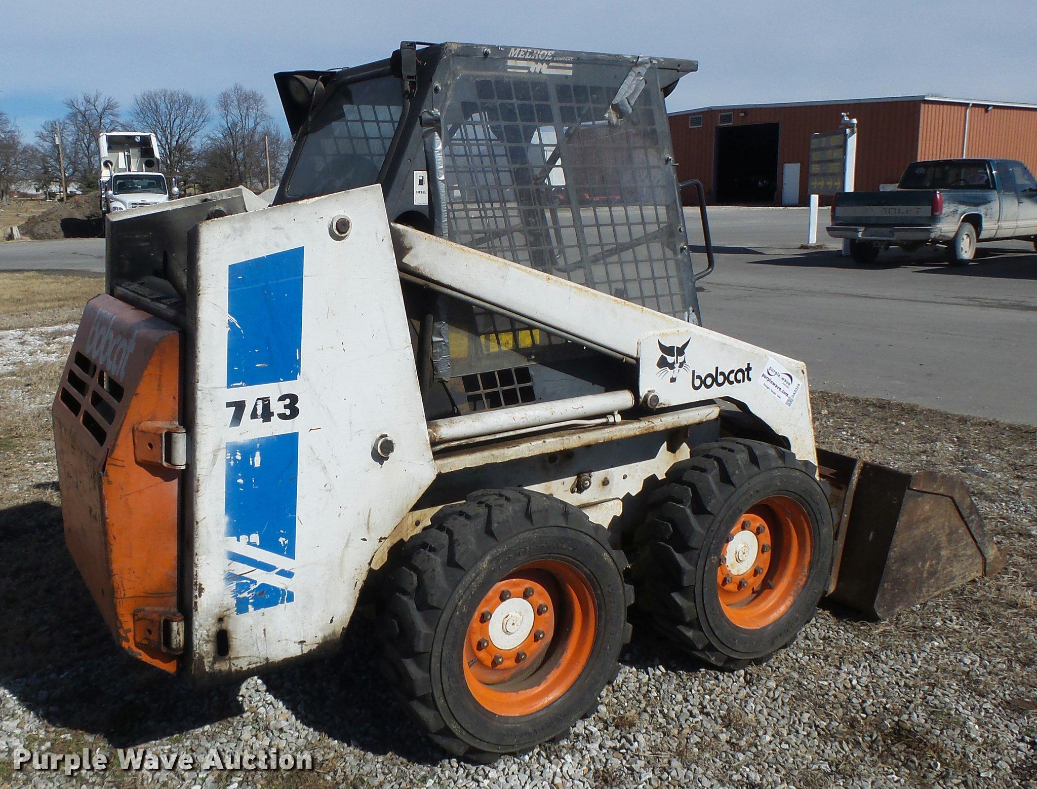 Bobcat 743 skid steer   Item DA3328   SOLD! March 16 Constru