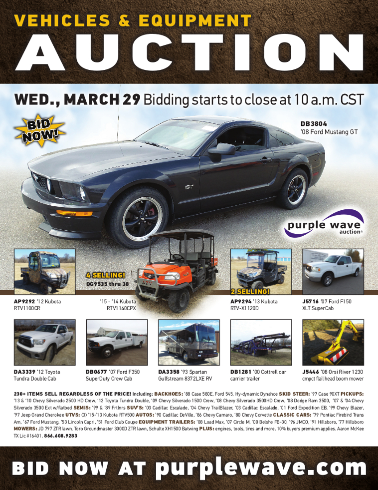 b75248906c7 SOLD! March 29 Vehicles and Equipment Auction