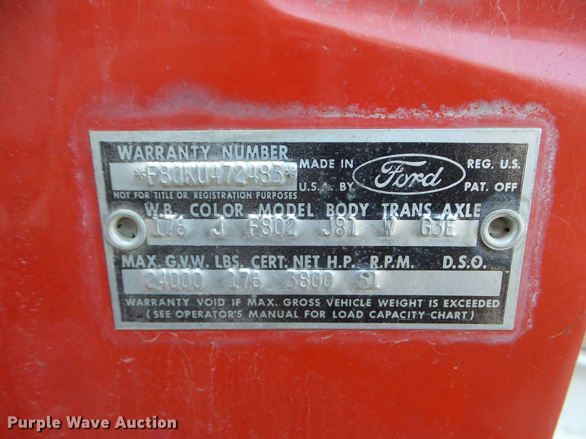 1964 ford f800 dump truck item da7680 sold march 30 con full size in new window nvjuhfo Gallery