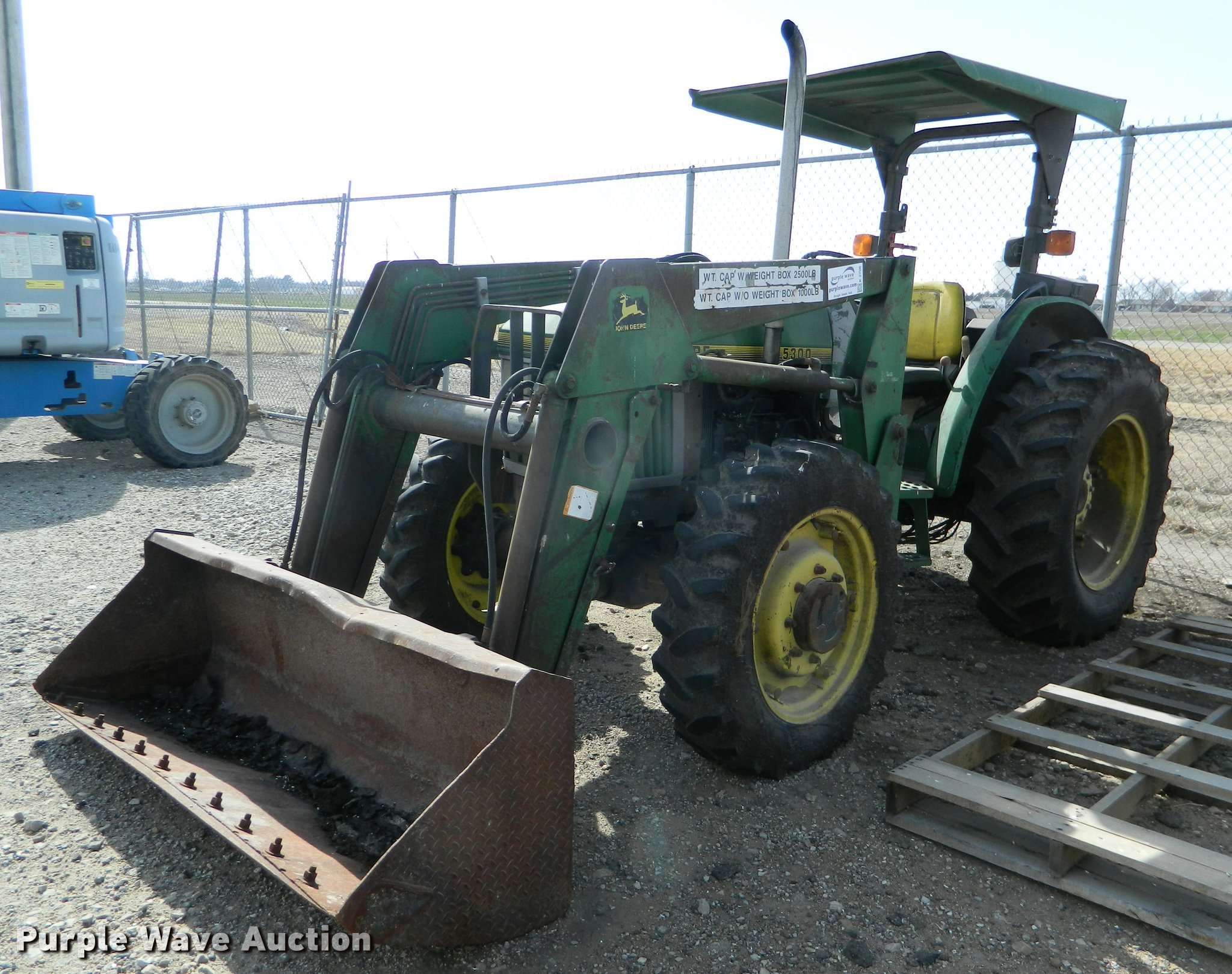K2706 1996 john deere 5300 mfwd tractor item k2706 sold! march