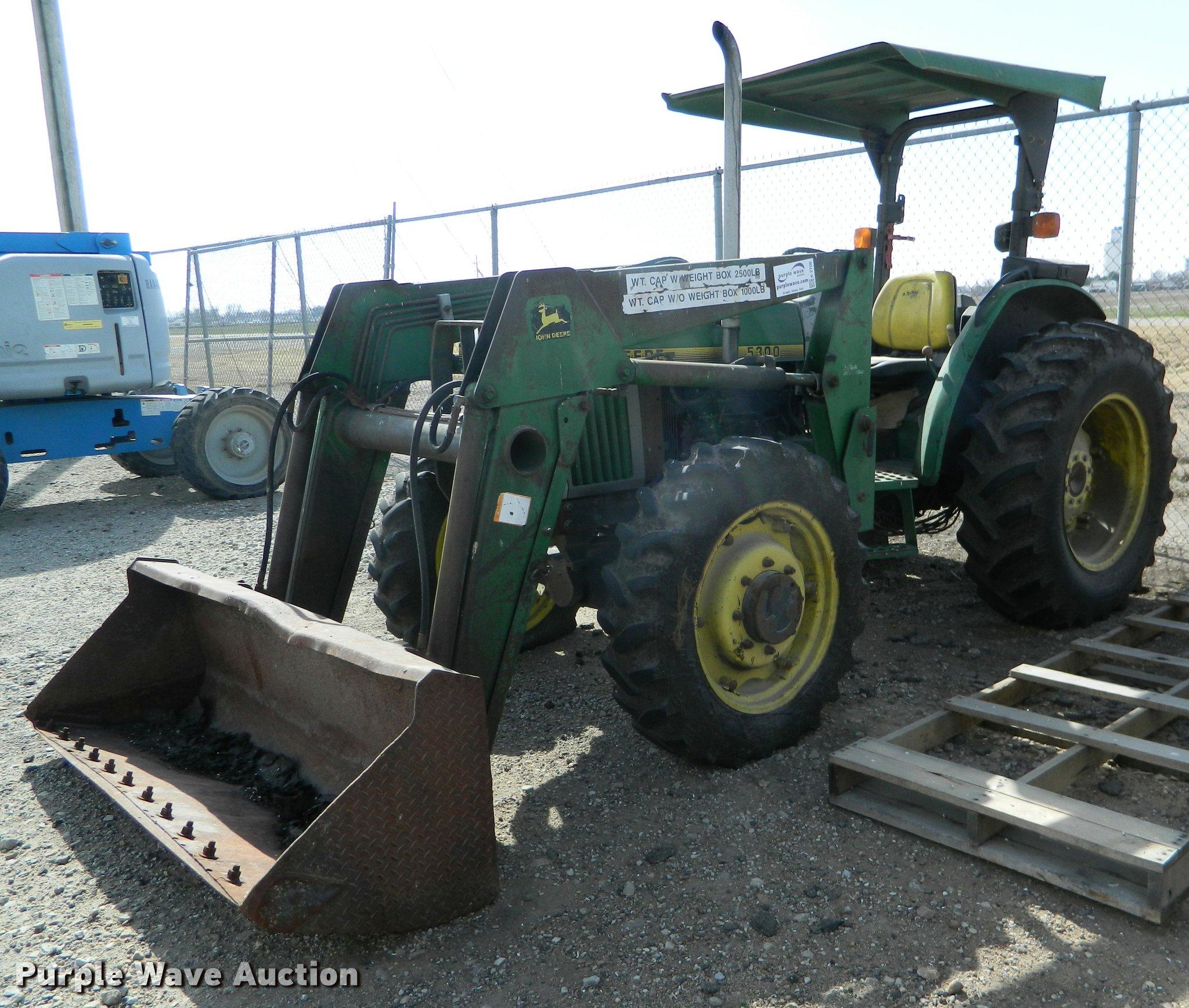 K2706A 1996 john deere 5300 mfwd tractor item k2706 sold! march