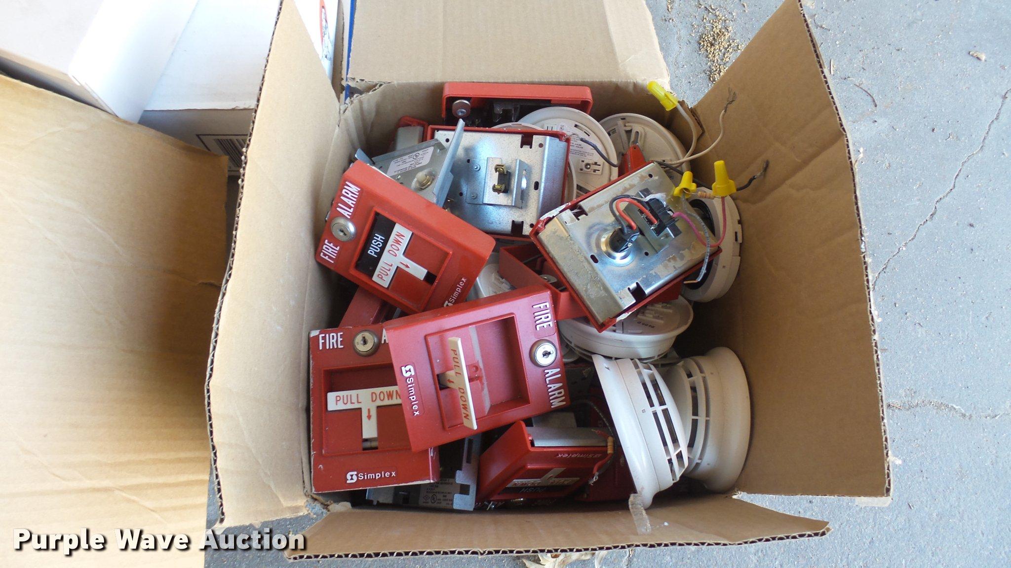 Simplex fire alarm system   Item DQ9772   SOLD! April 4 Gove