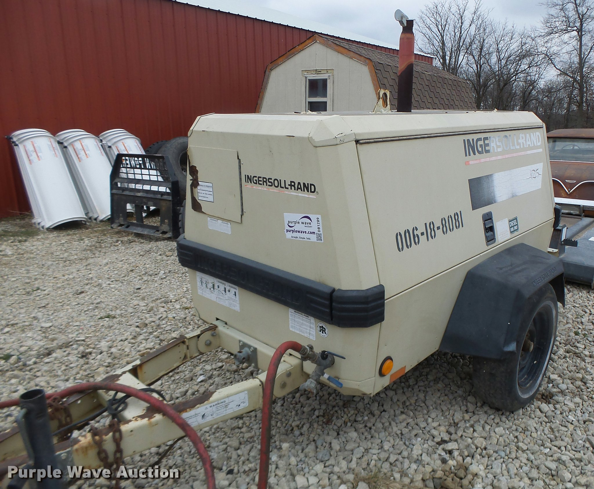 DB1289 image for item DB1289 Ingersoll Rand 185 air compressor Full size in  new window ...