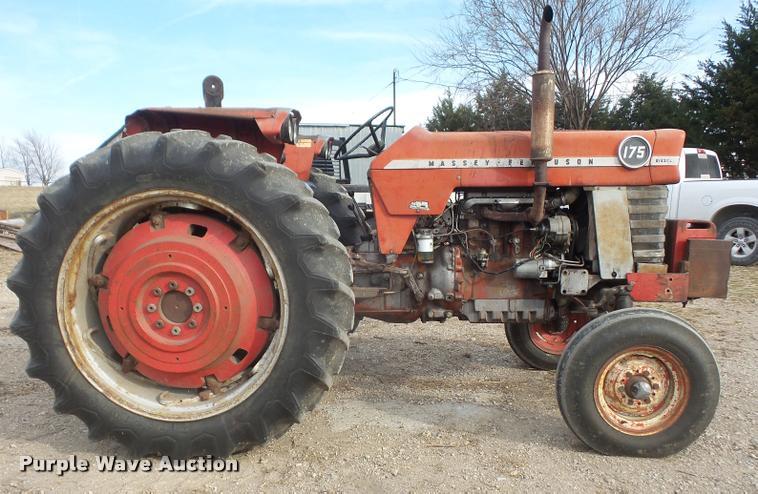 Massey 175 Diesel : Massey ferguson tractor item db sold