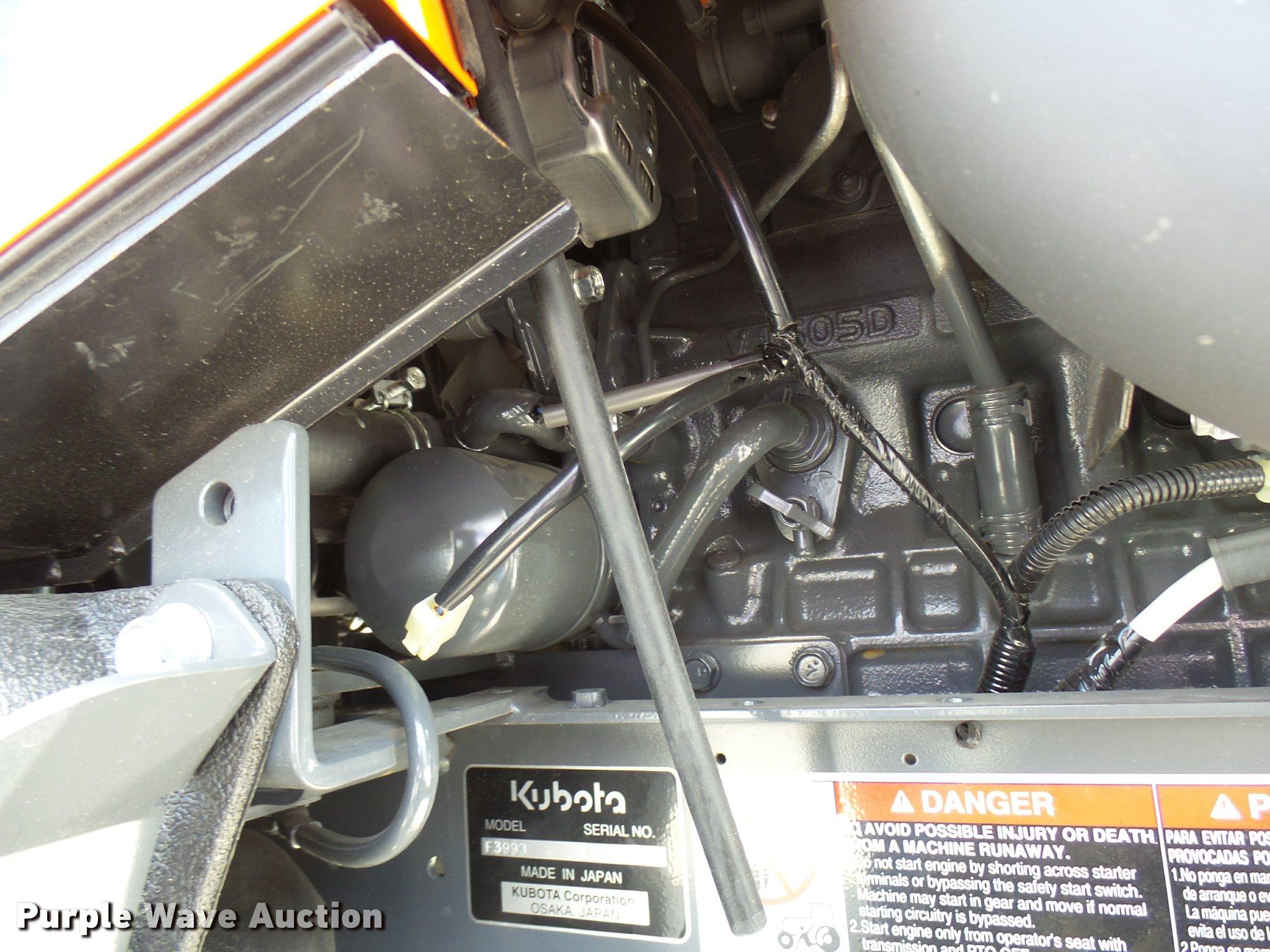 Kubota F3990 lawn mower | Item DG9657 | SOLD! April 19 Ag Eq