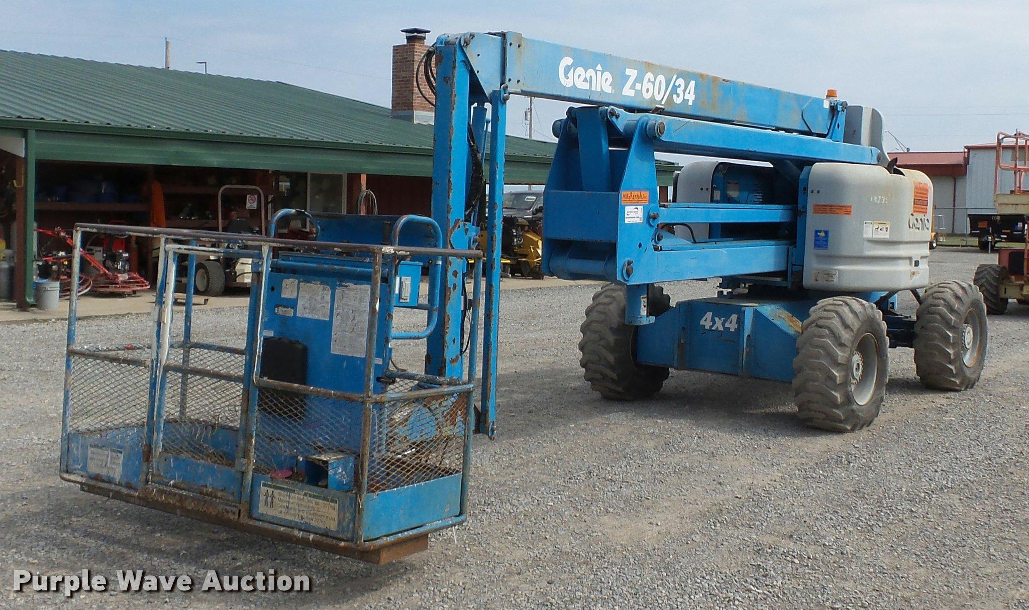 2000 genie z60 34 boom lift item k3306 sold april 27 co rh purplewave com Genie Z60 34 Maual JLG 800AJ