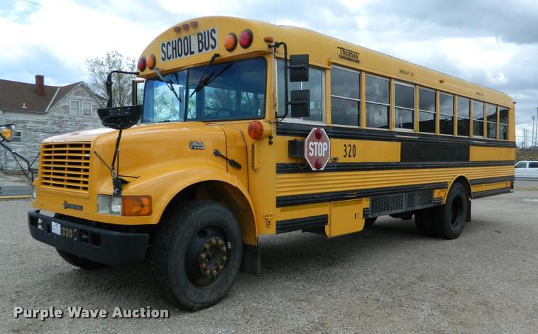 1996 International 3800 School Bus Item K2588 Sold