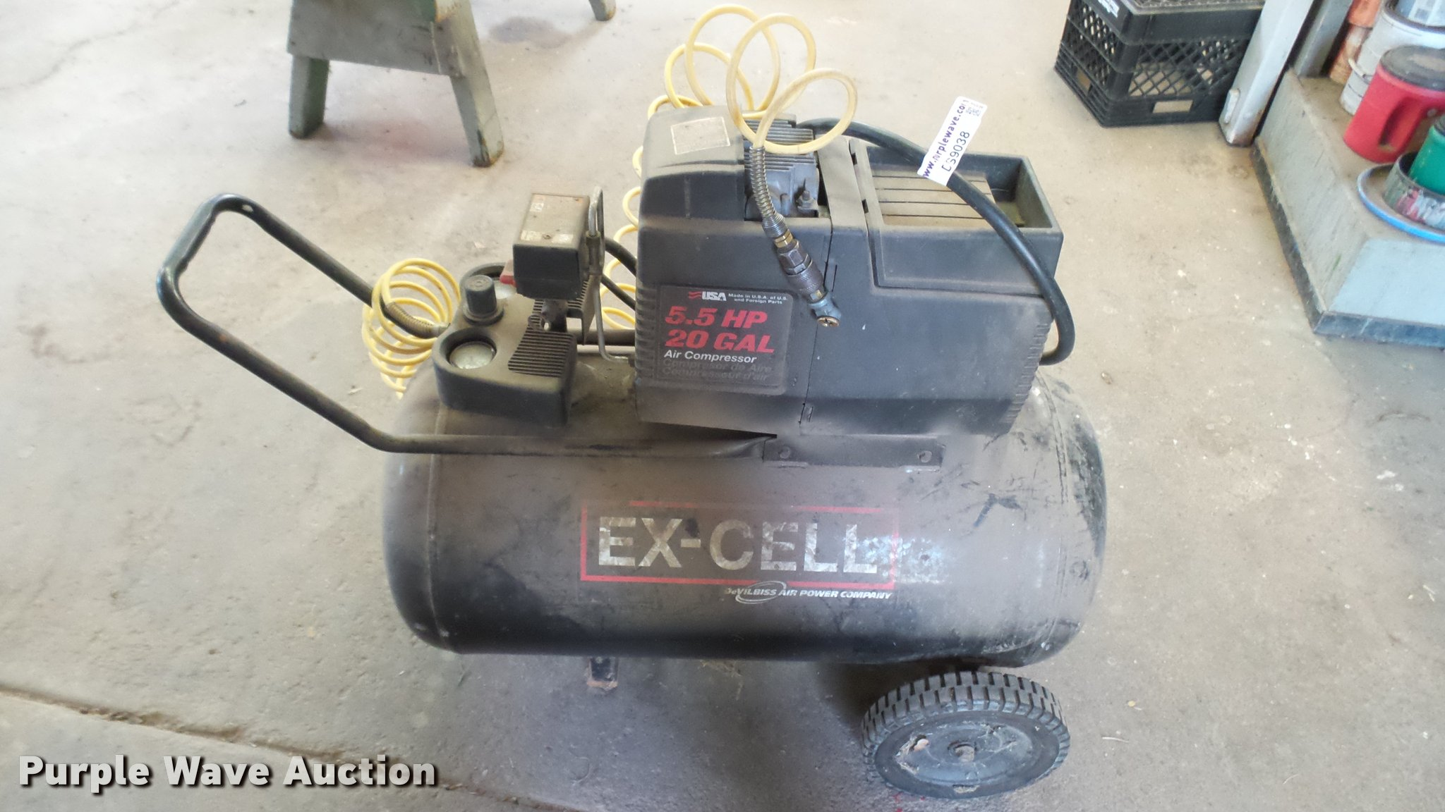 excell air compressor item ds9038 sold may 2 government