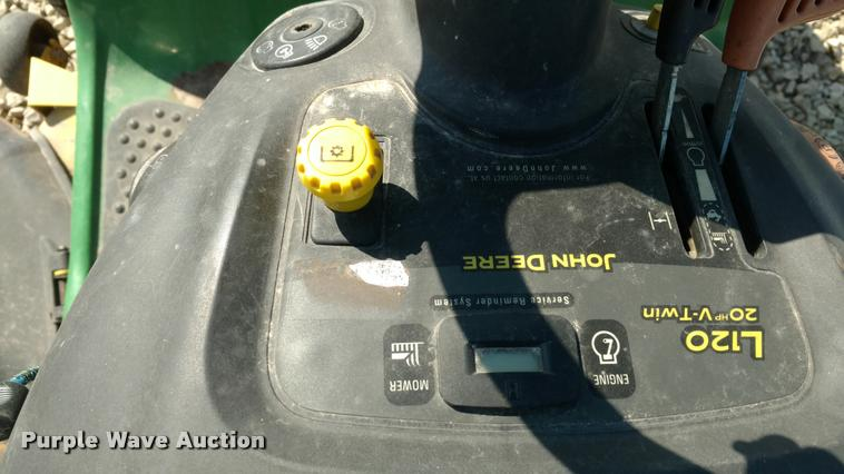 John Deere L120 lawn mower | Item DI9789 | SOLD! May 3 Ag Eq