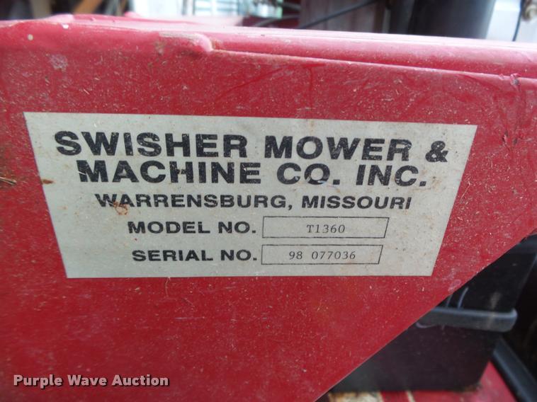 Swisher T1360 finish mower | Item AU9582 | SOLD! May 10 Vehi