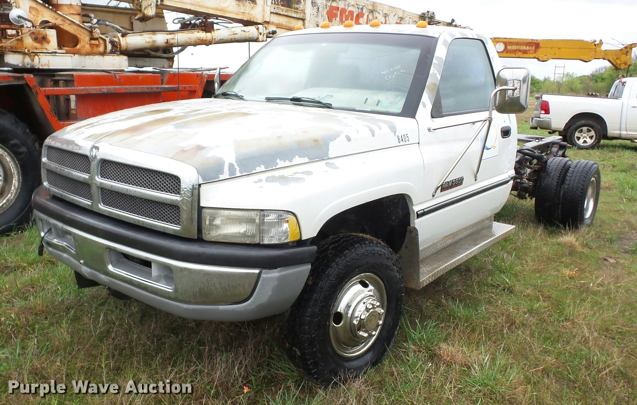 1997 Dodge Ram 3500 Pickup Truck Cab And Chassis Item Bz97 Fuel Filter Location Full Size In New Window
