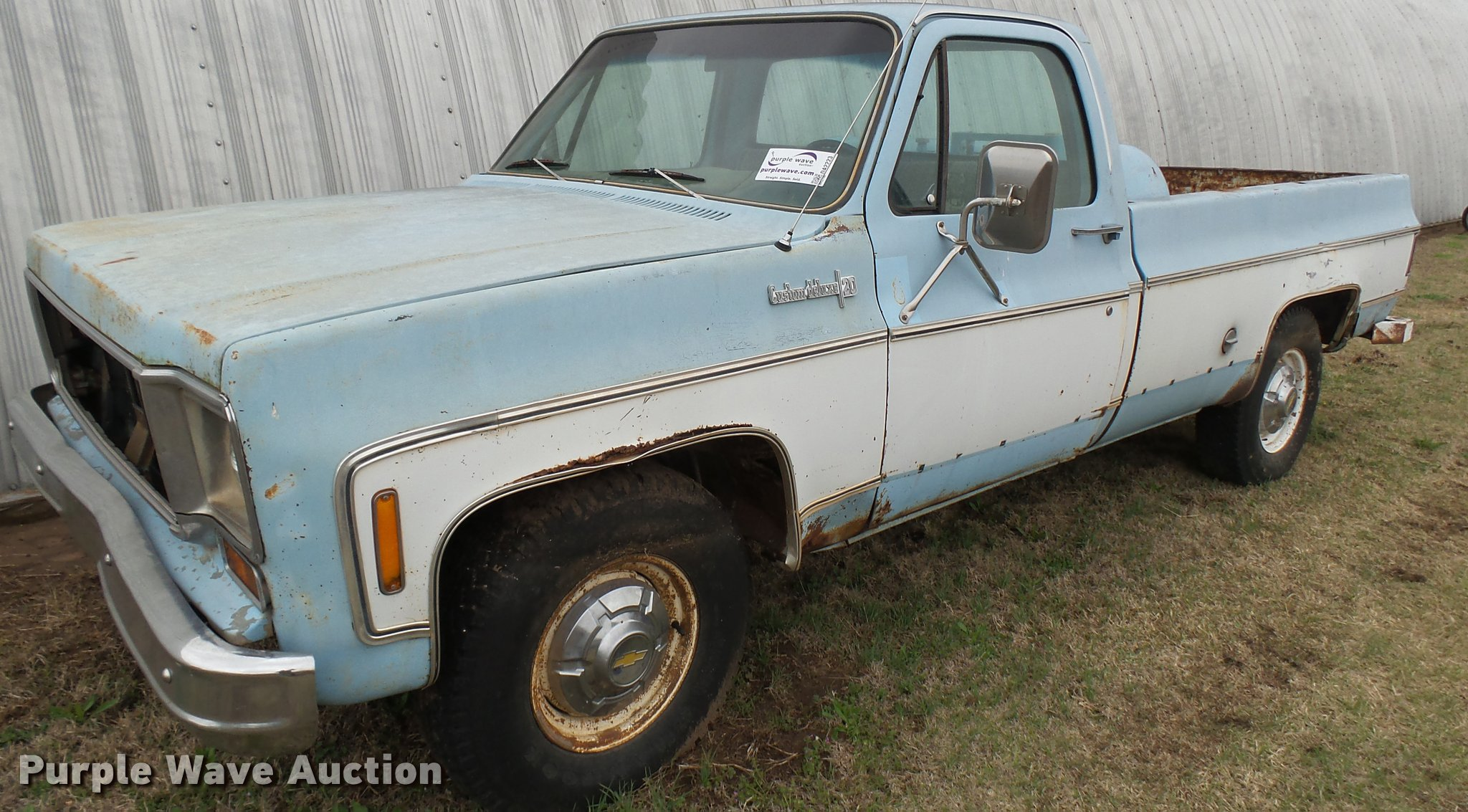 1974 Chevrolet Custom Deluxe 20 pickup truck | Item DA2223 |...
