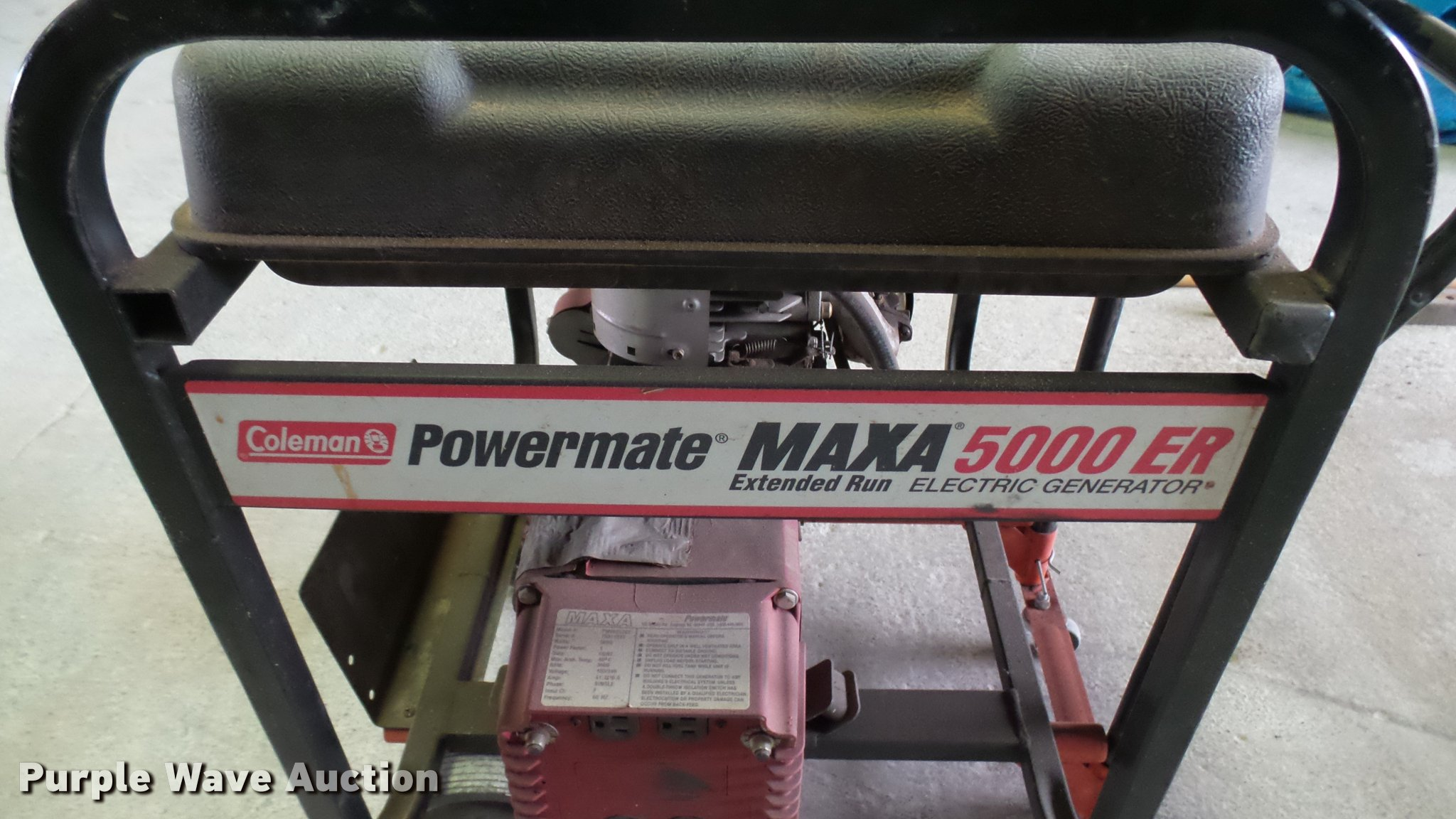 ... Coleman Powermate Maxa 5000ER generator Full size in new window ...