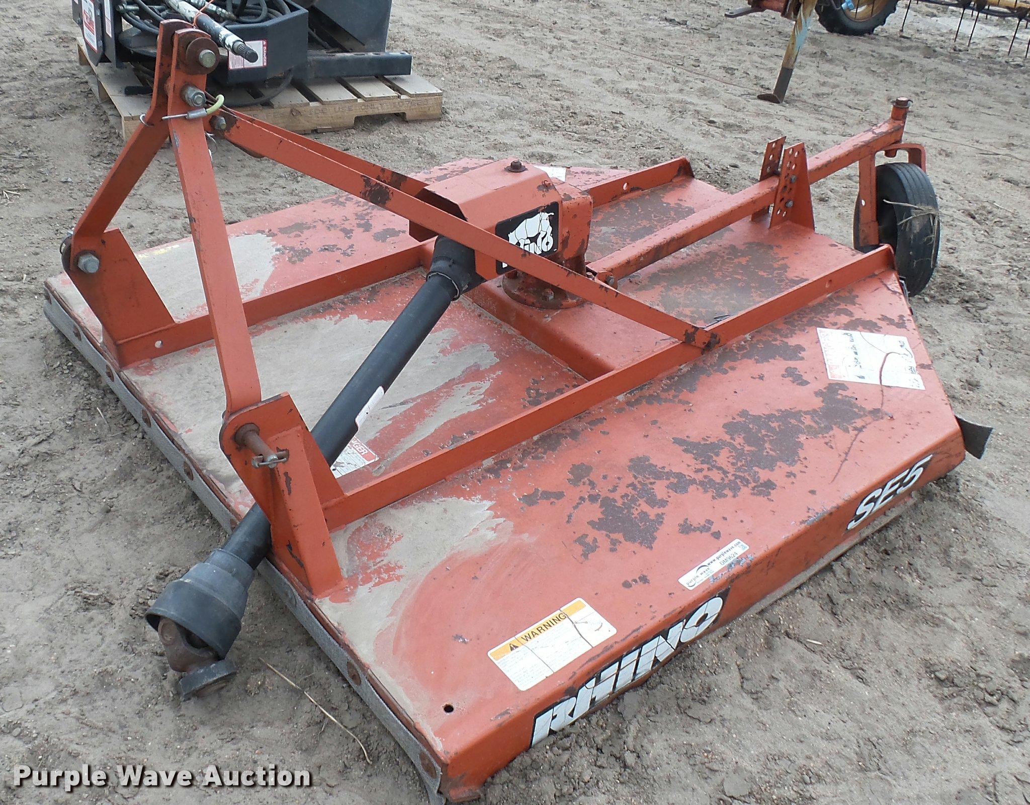 Rhino SE5 rotary mower | Item DM9624 | SOLD! May 17 Ag Equip